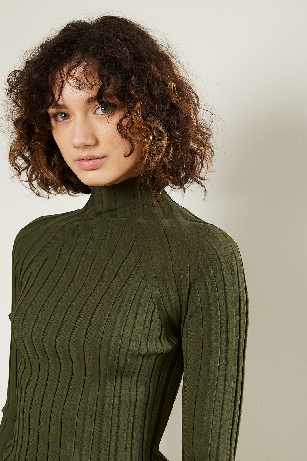 Christian Wijnants - Kyras fitted ribbed turtle neck
