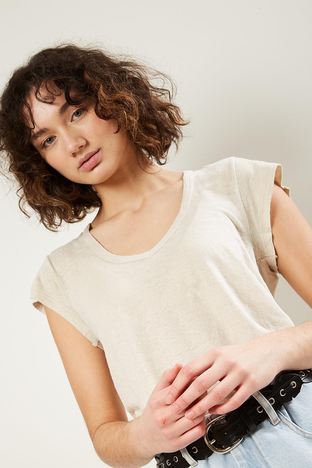 Etoile Isabel Marant - Zankou linen t-shirt