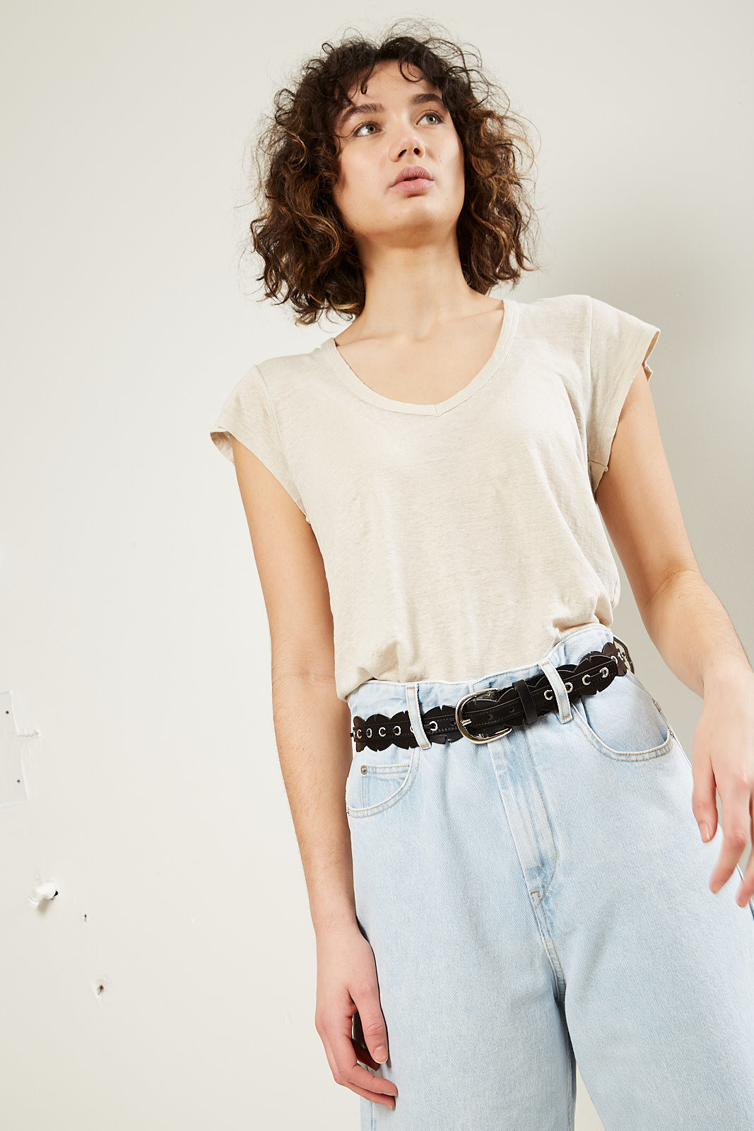 Etoile Isabel Marant Zankou linen t-shirt