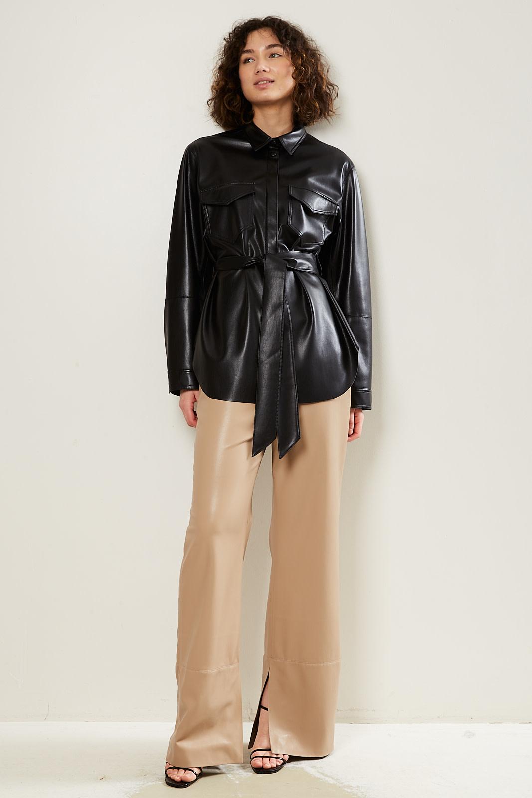 Nanushka Artha vegan leather oversized shirt