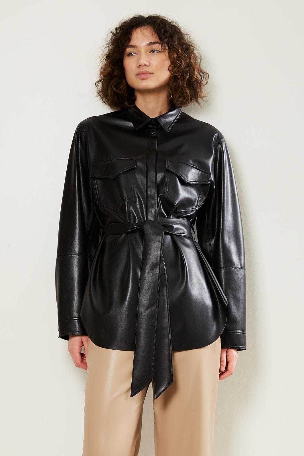 Nanushka - Artha vegan leather oversized shirt