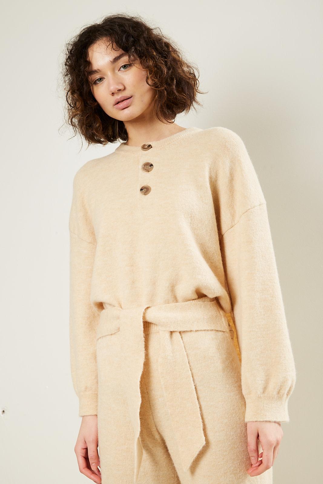 Nanushka Lamee fluffy knit sweater