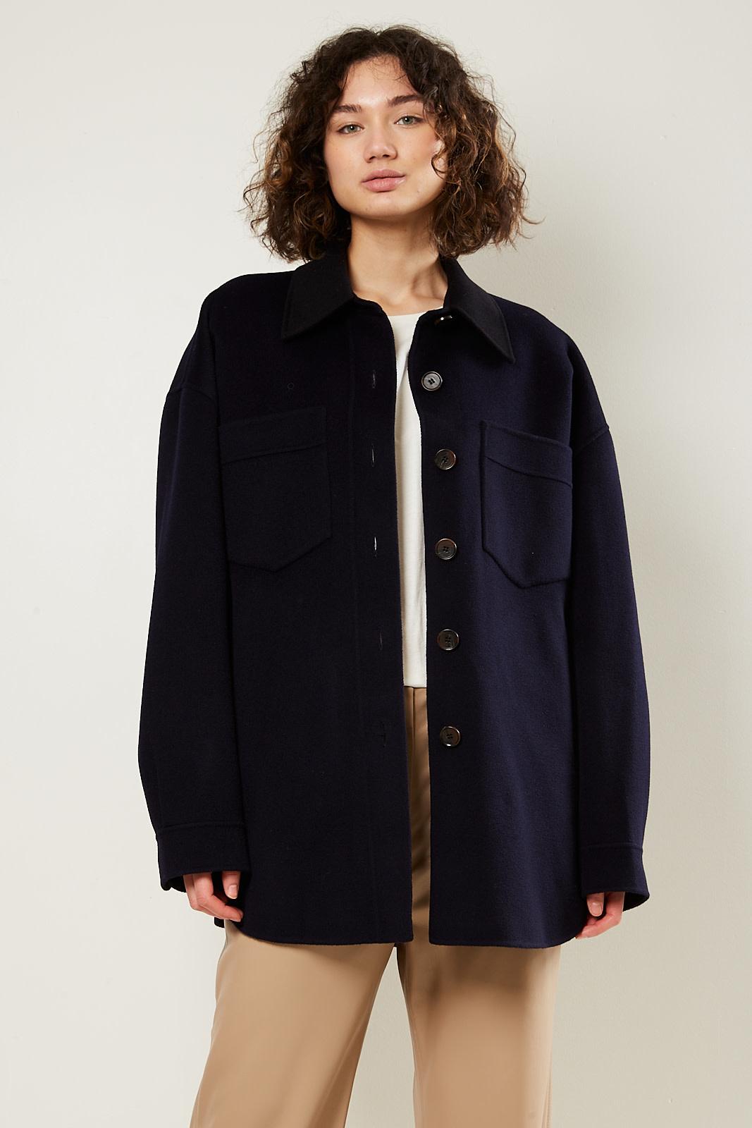 Nanushka Martin double silk wool blend jacket