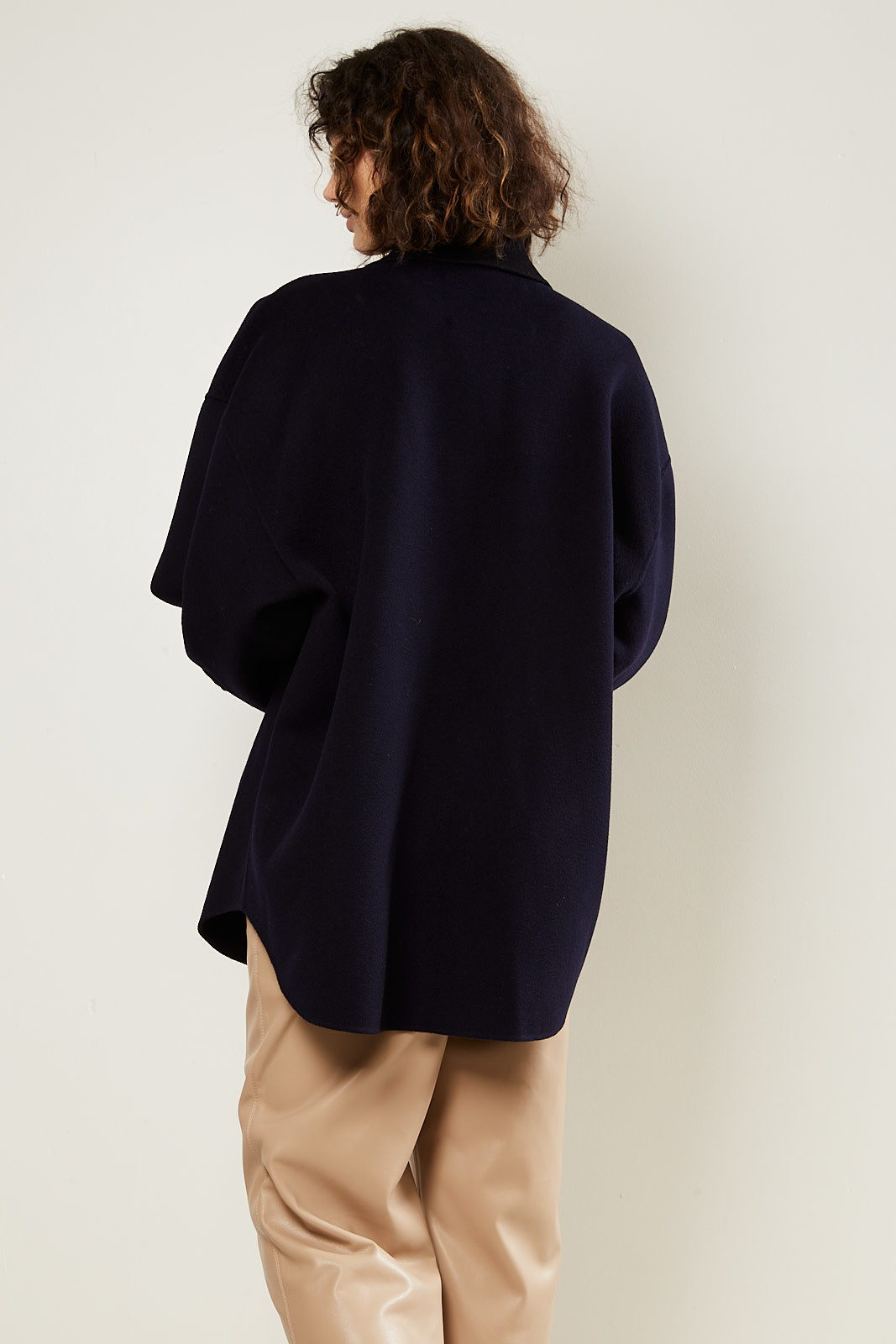 Nanushka - Martin double silk wool blend jacket