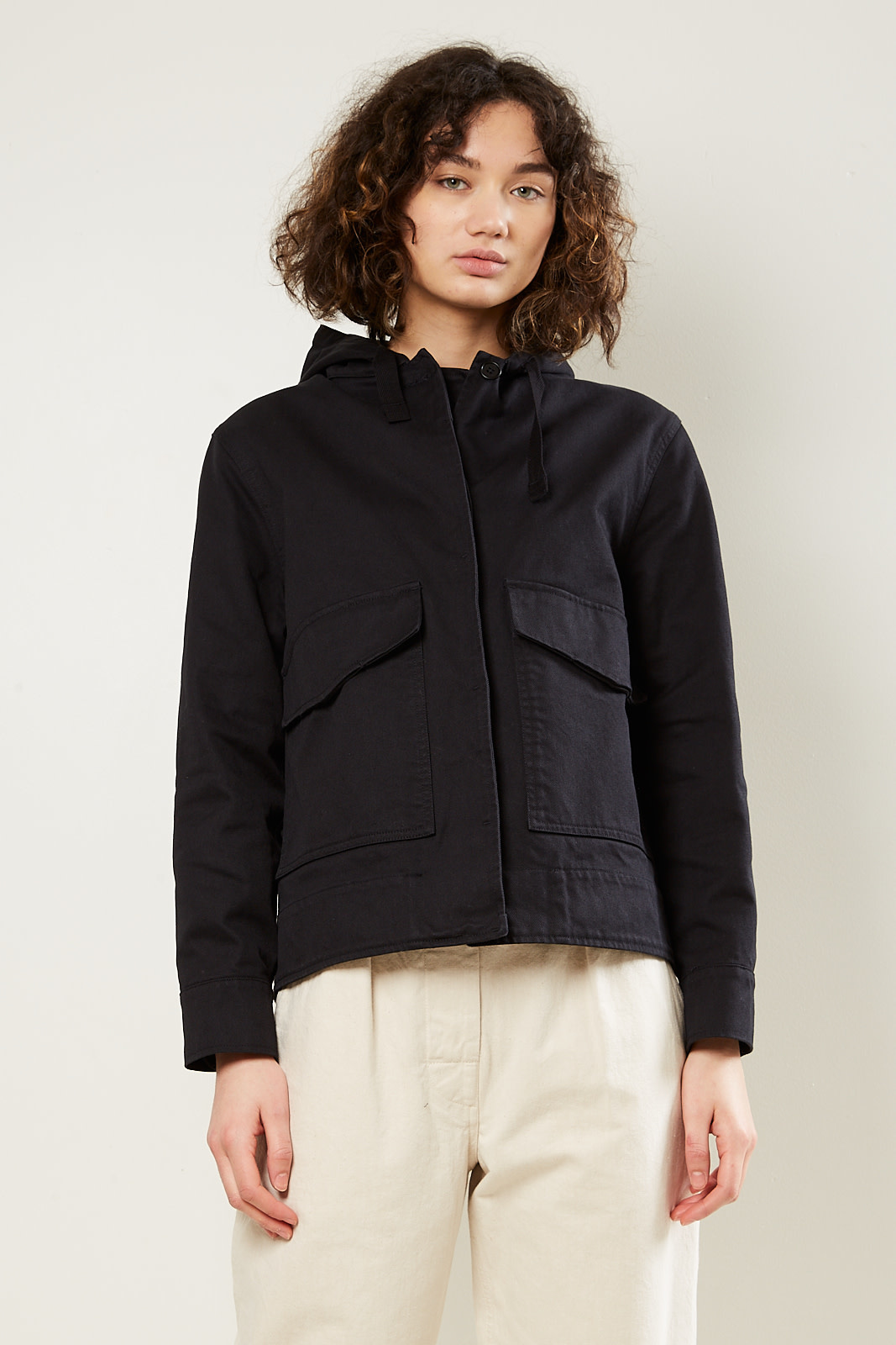 Margaret Howell MHL cropped hooded jacket