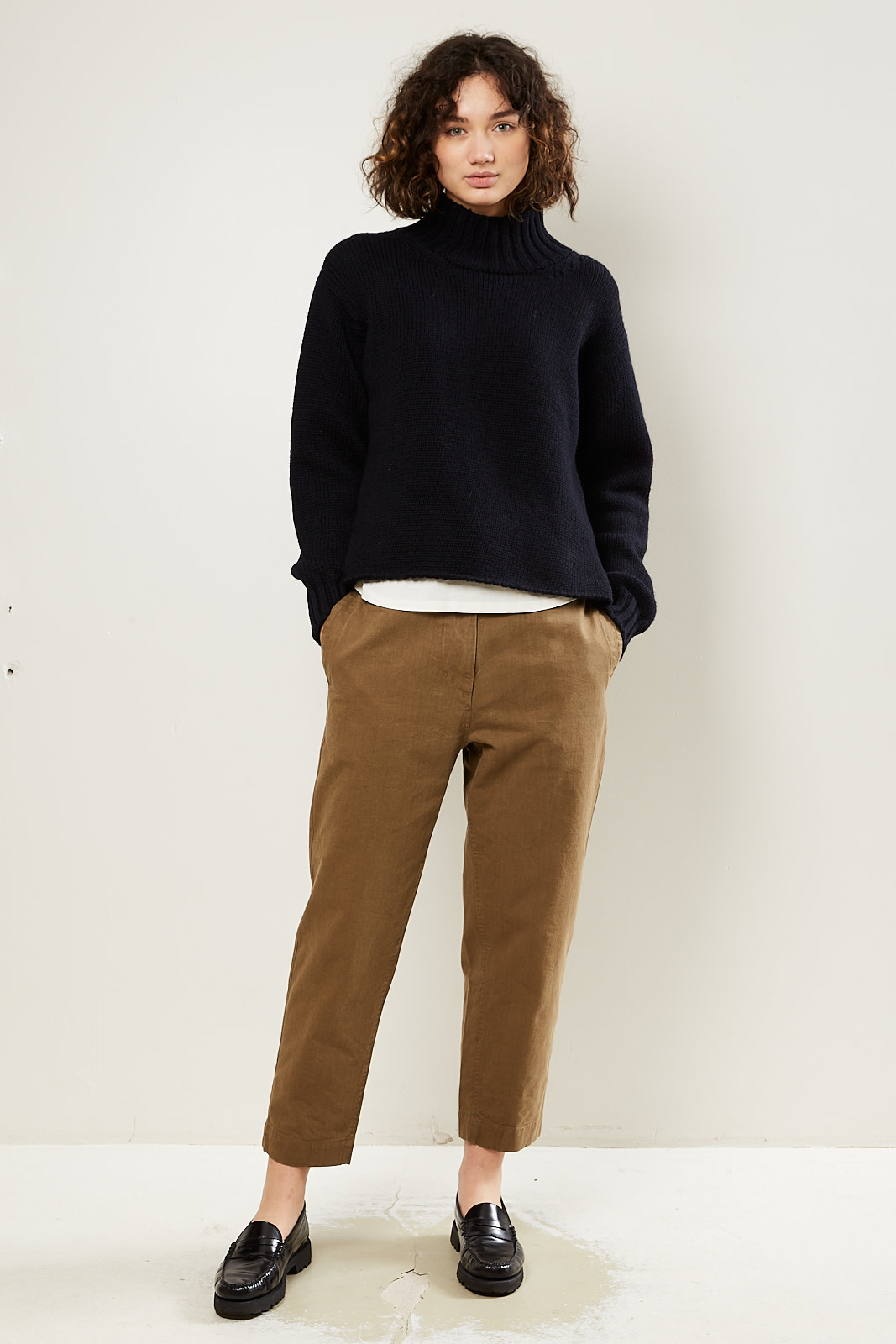 Margaret Howell MHL clinced back tapered trousers