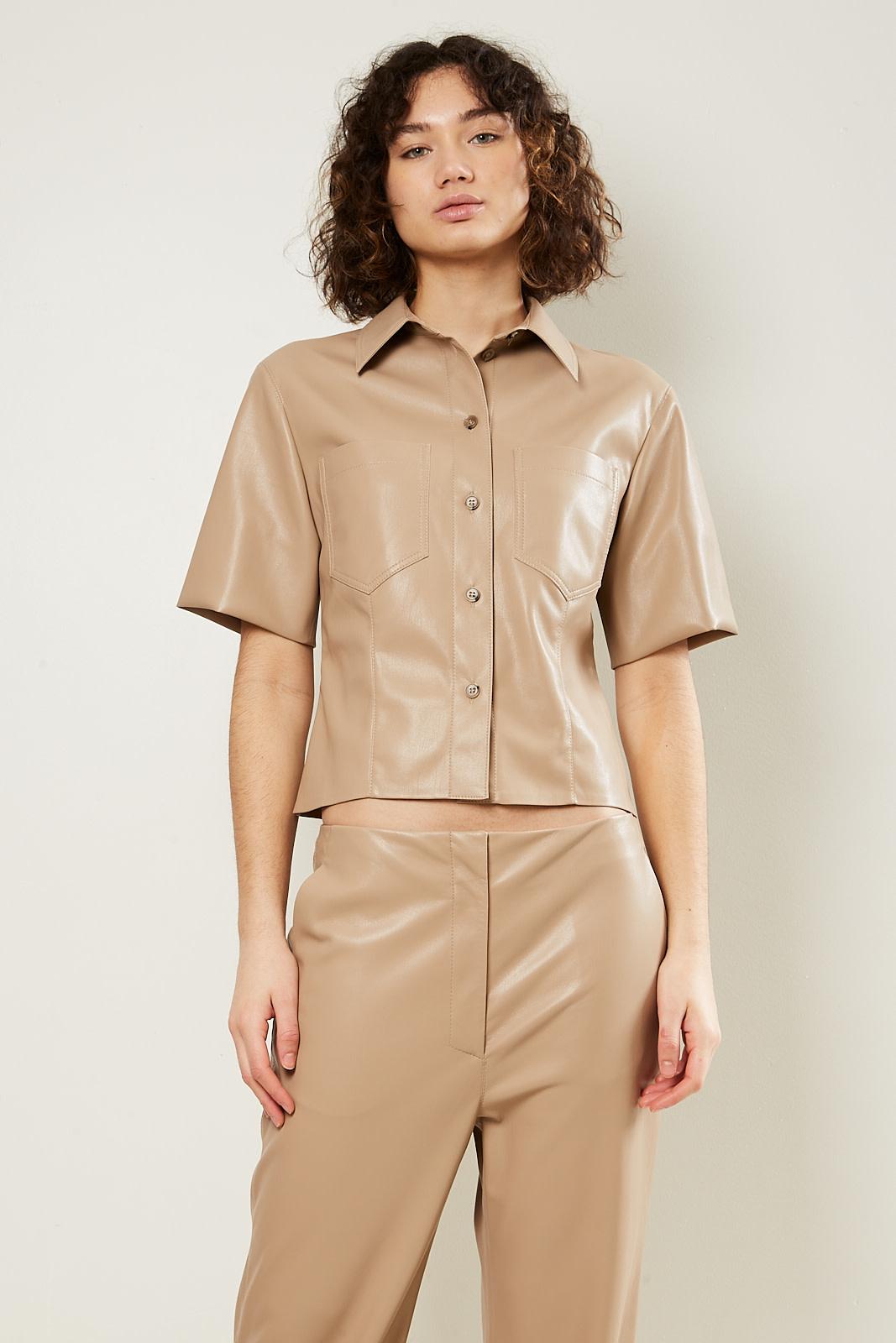 Nanushka - Sabine vegan leather shirt