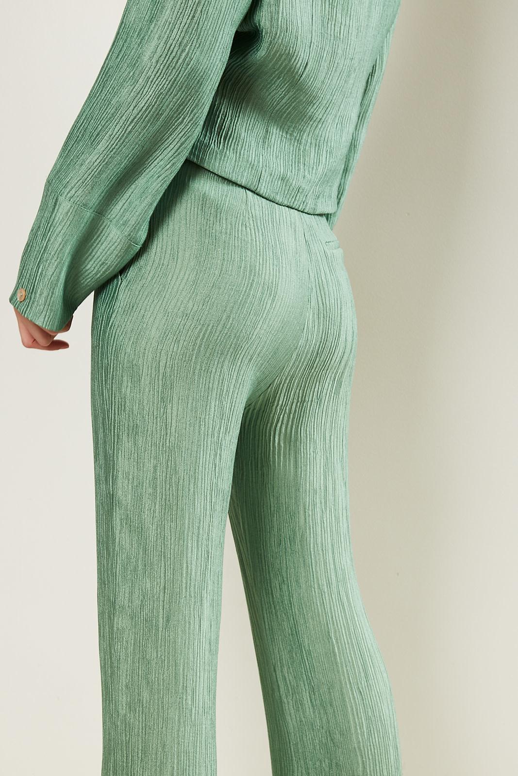 Nanushka - Tabbie metallic pleat pants
