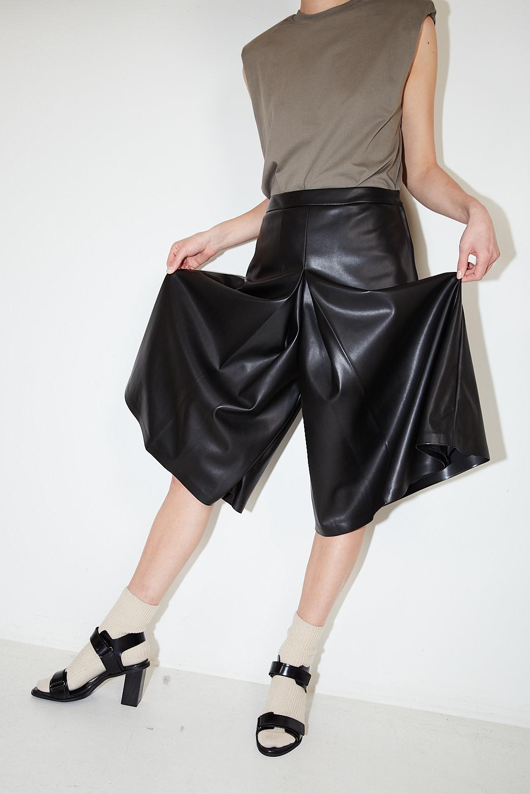 Maison Margiela - Faux leather skirt