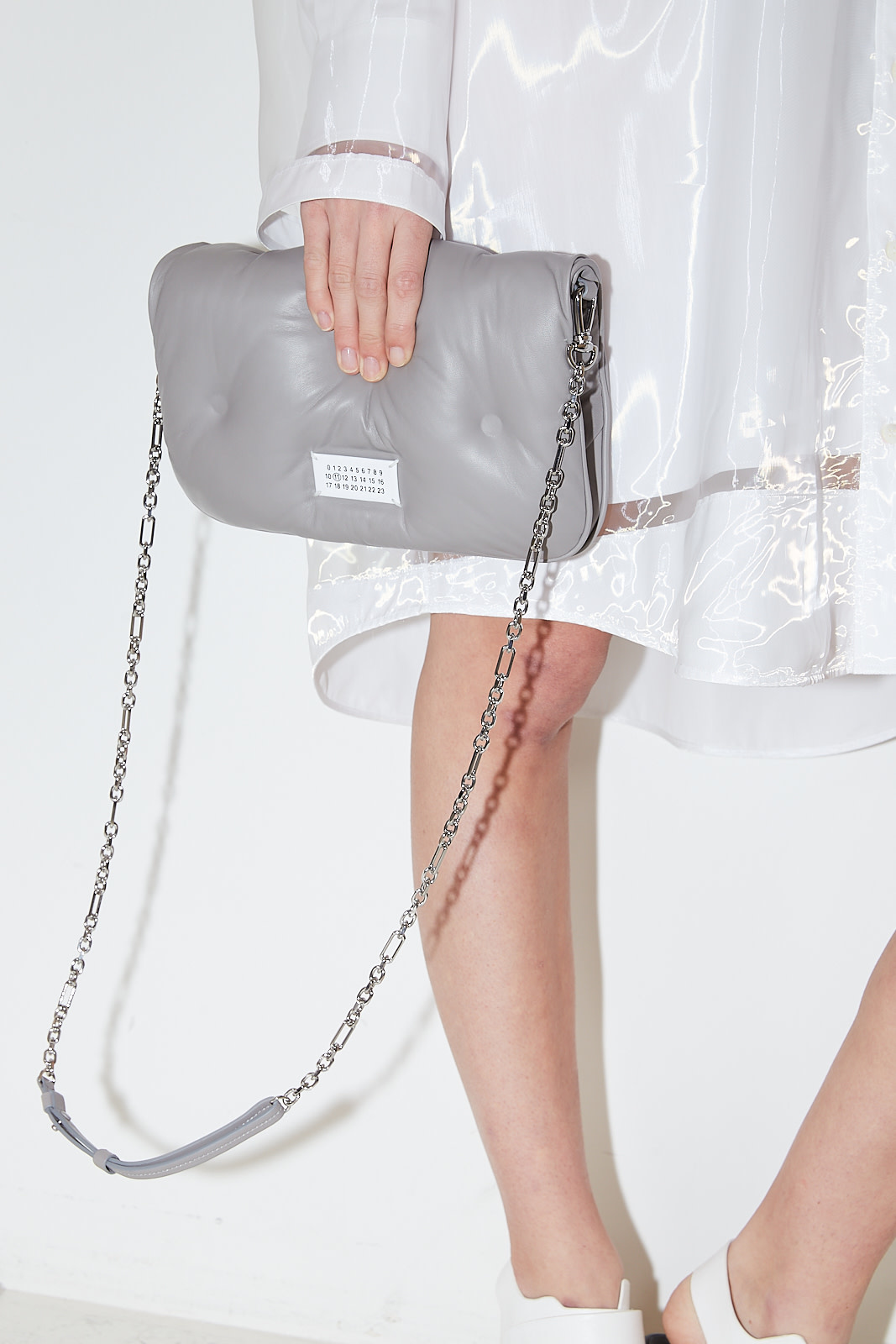 Maison Margiela Glam slam leather pochette