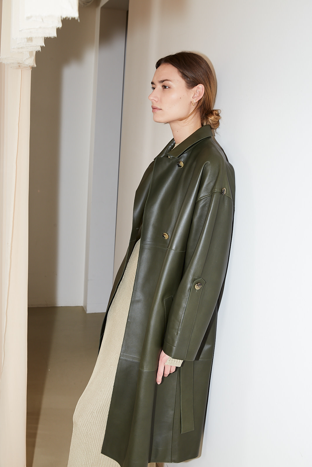 Aeron Palla leather coat