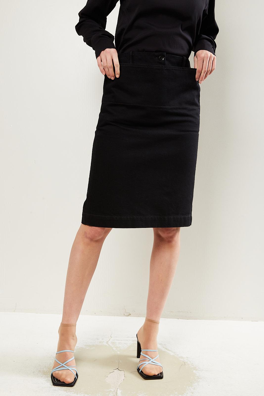 Lemaire Denim straight skirt