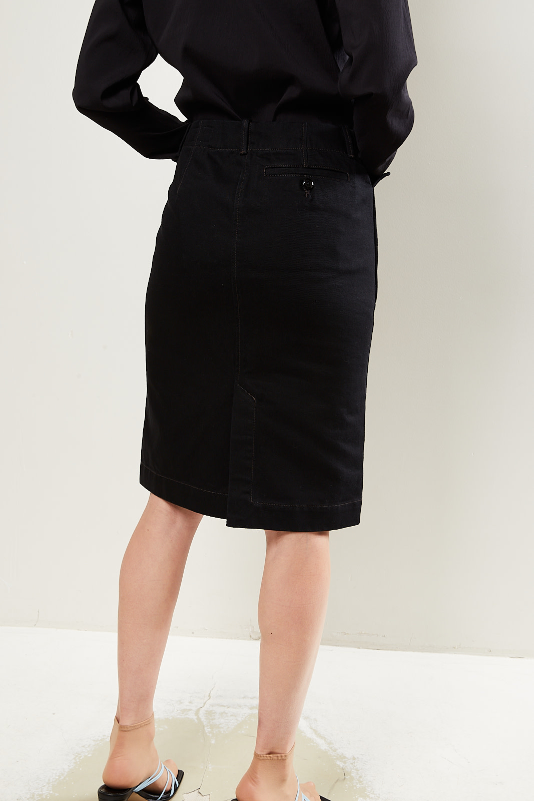 Lemaire - Denim straight skirt