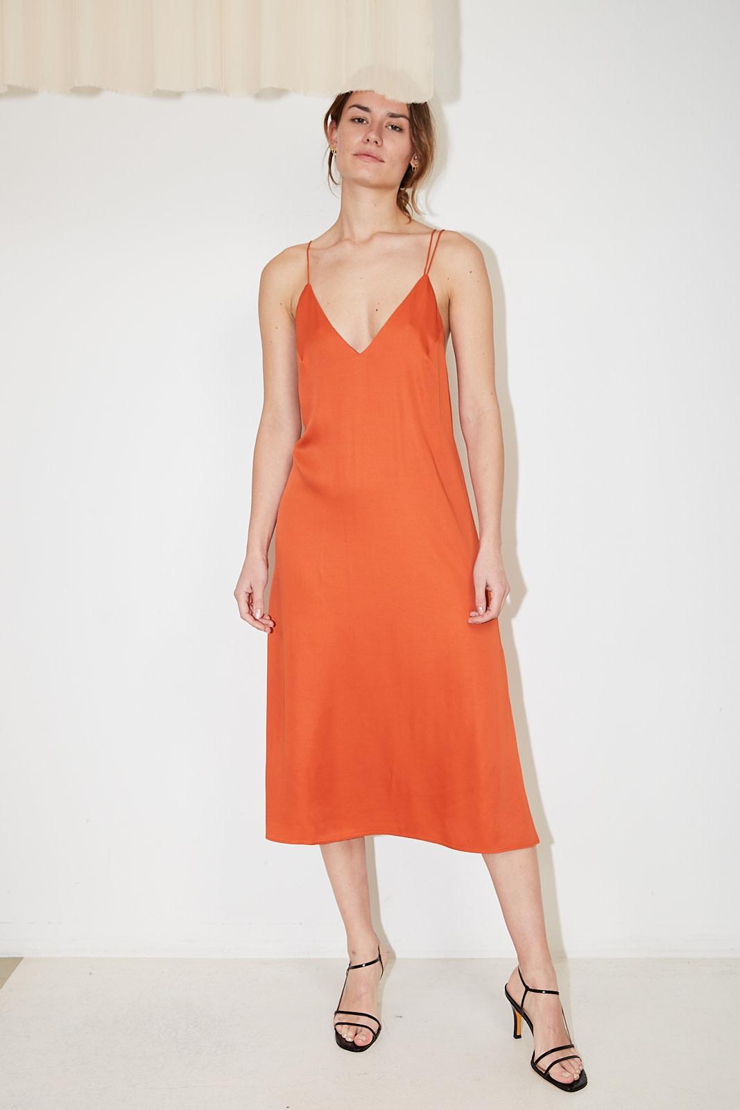 Aeron Giselle recycled satin dress