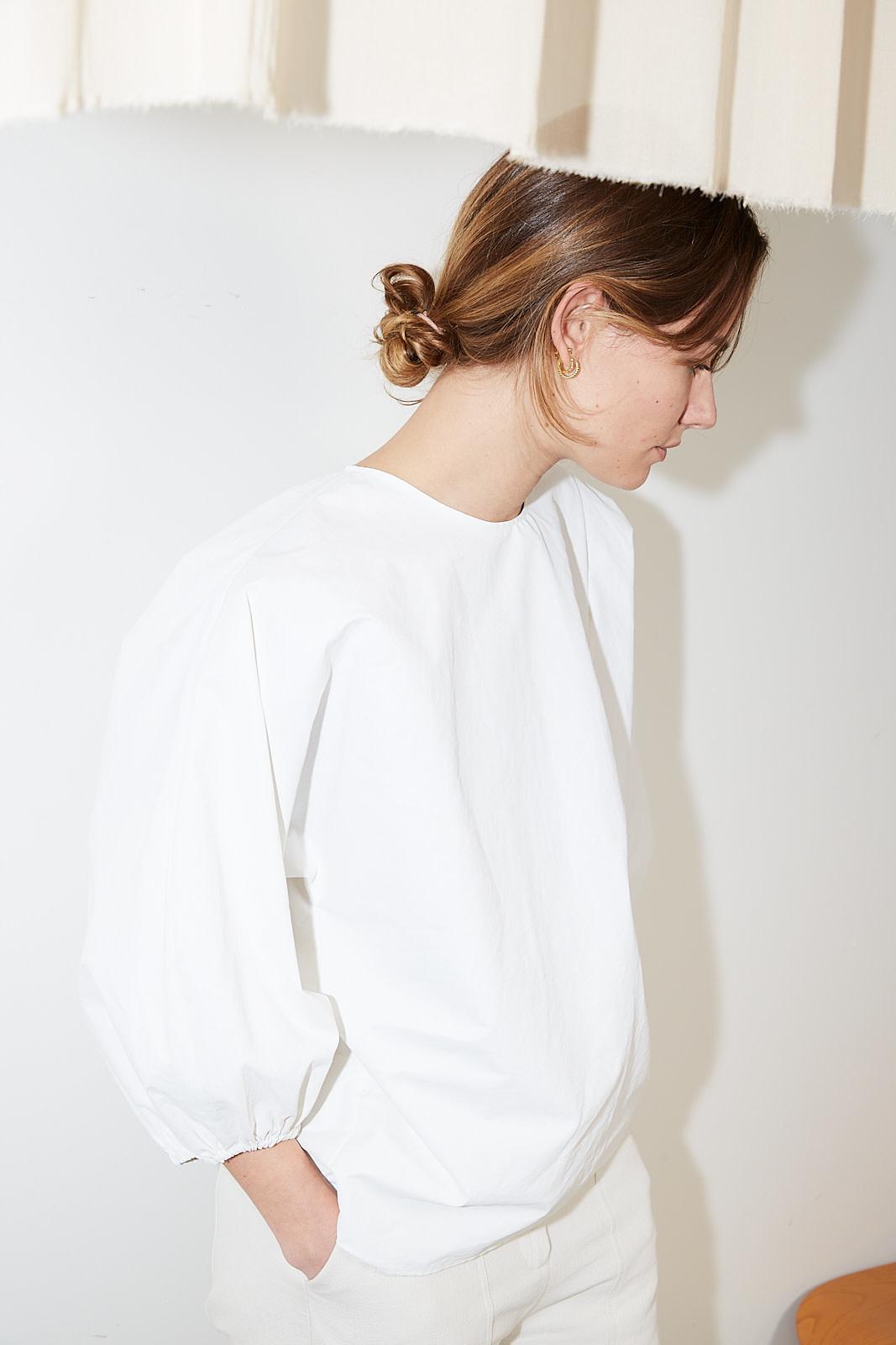 Aeron - Mimi coated linen top