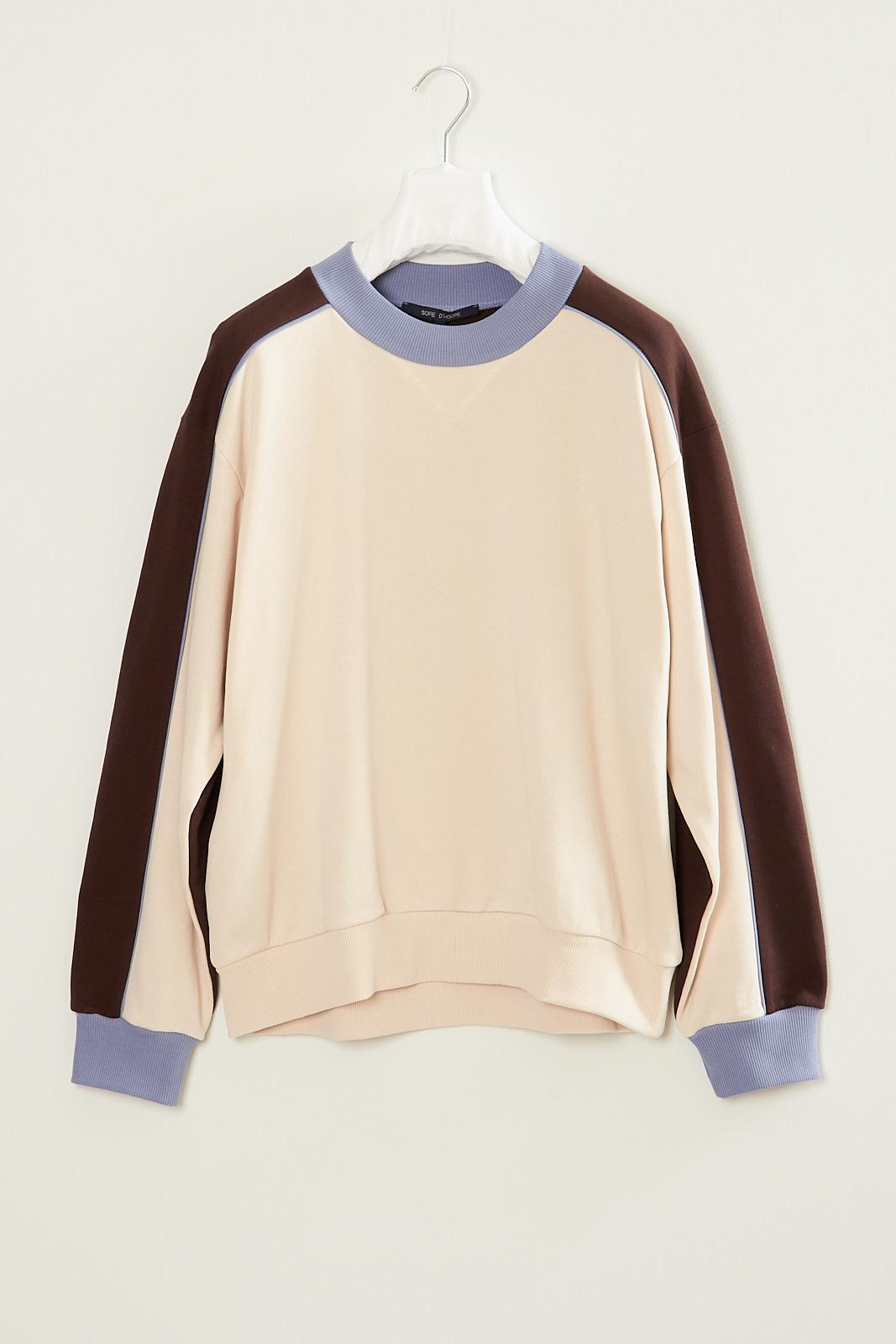 Sofie d'Hoore Tap cotton fleece combi sweater