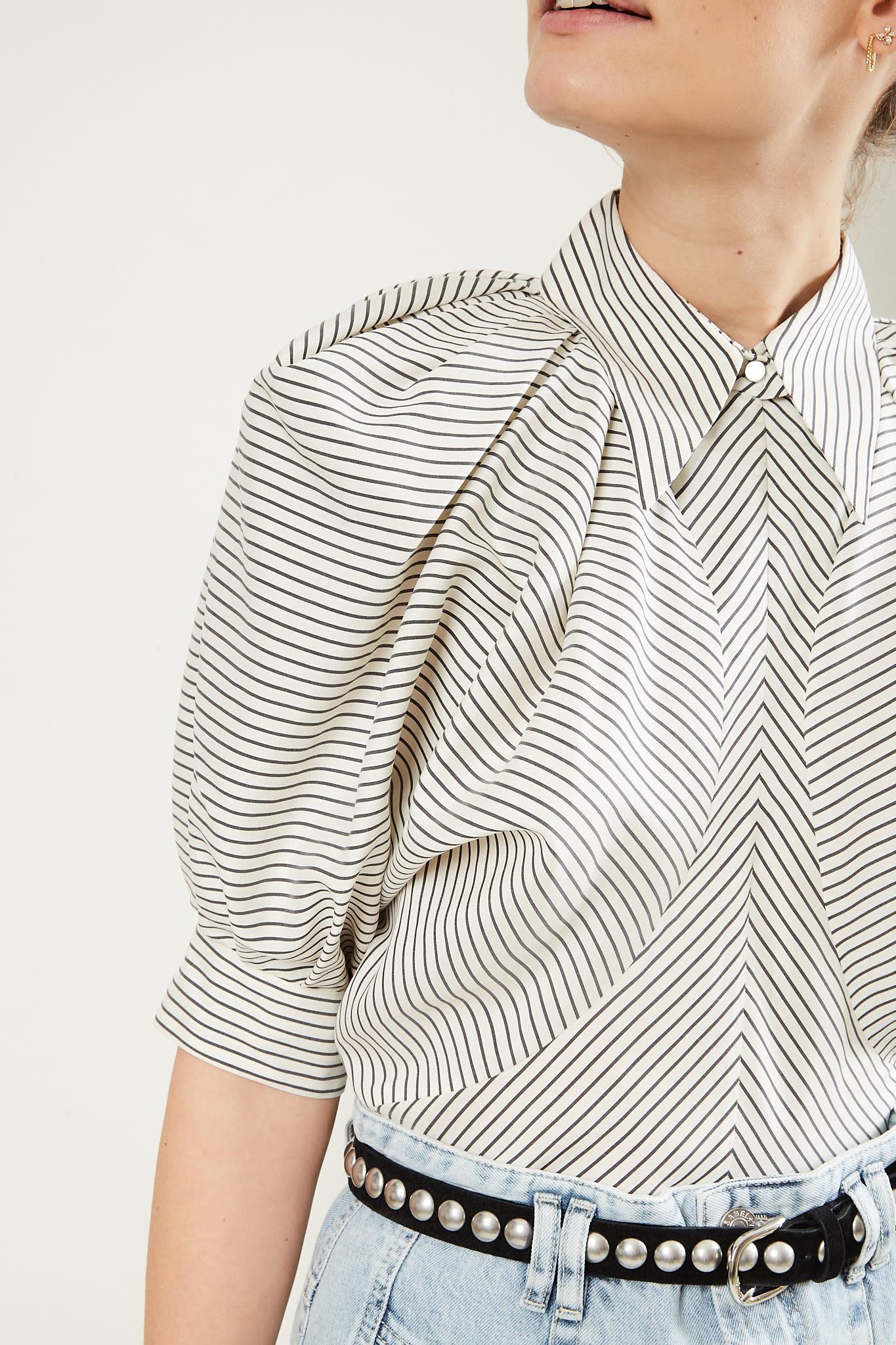 Isabel Marant - Eori striped silky top