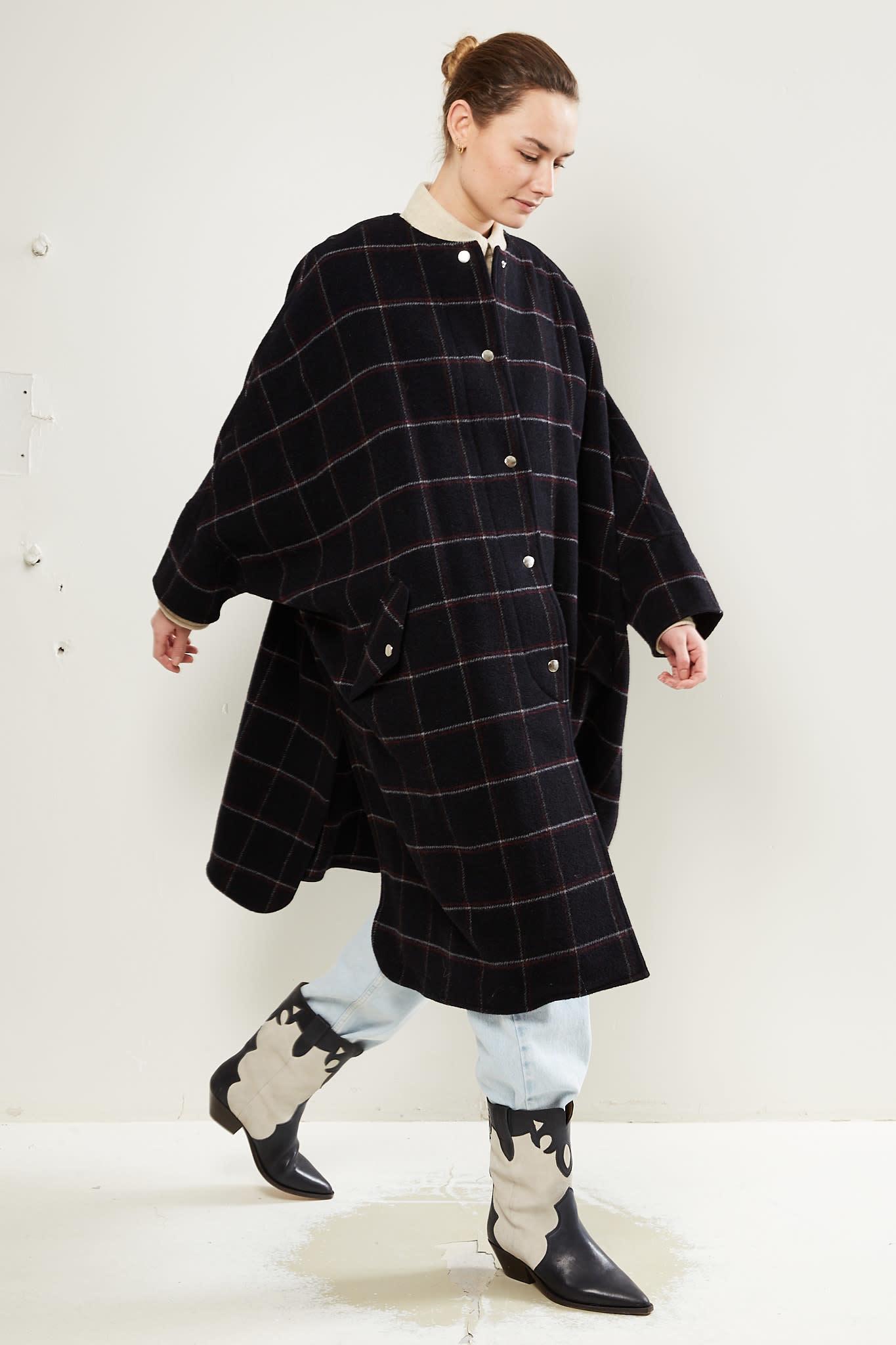 Etoile Isabel Marant Fanny overboiled wool coat