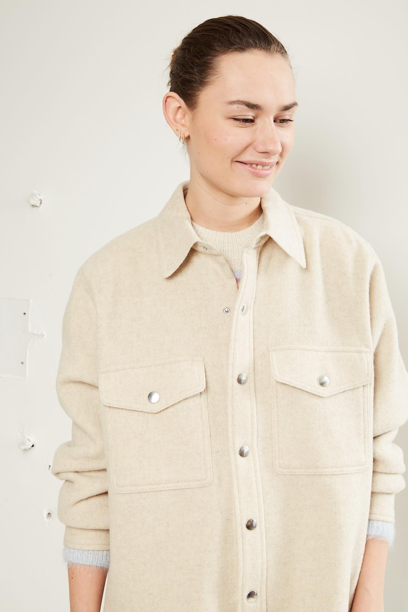 Etoile Isabel Marant Faxon overboiled wool coat