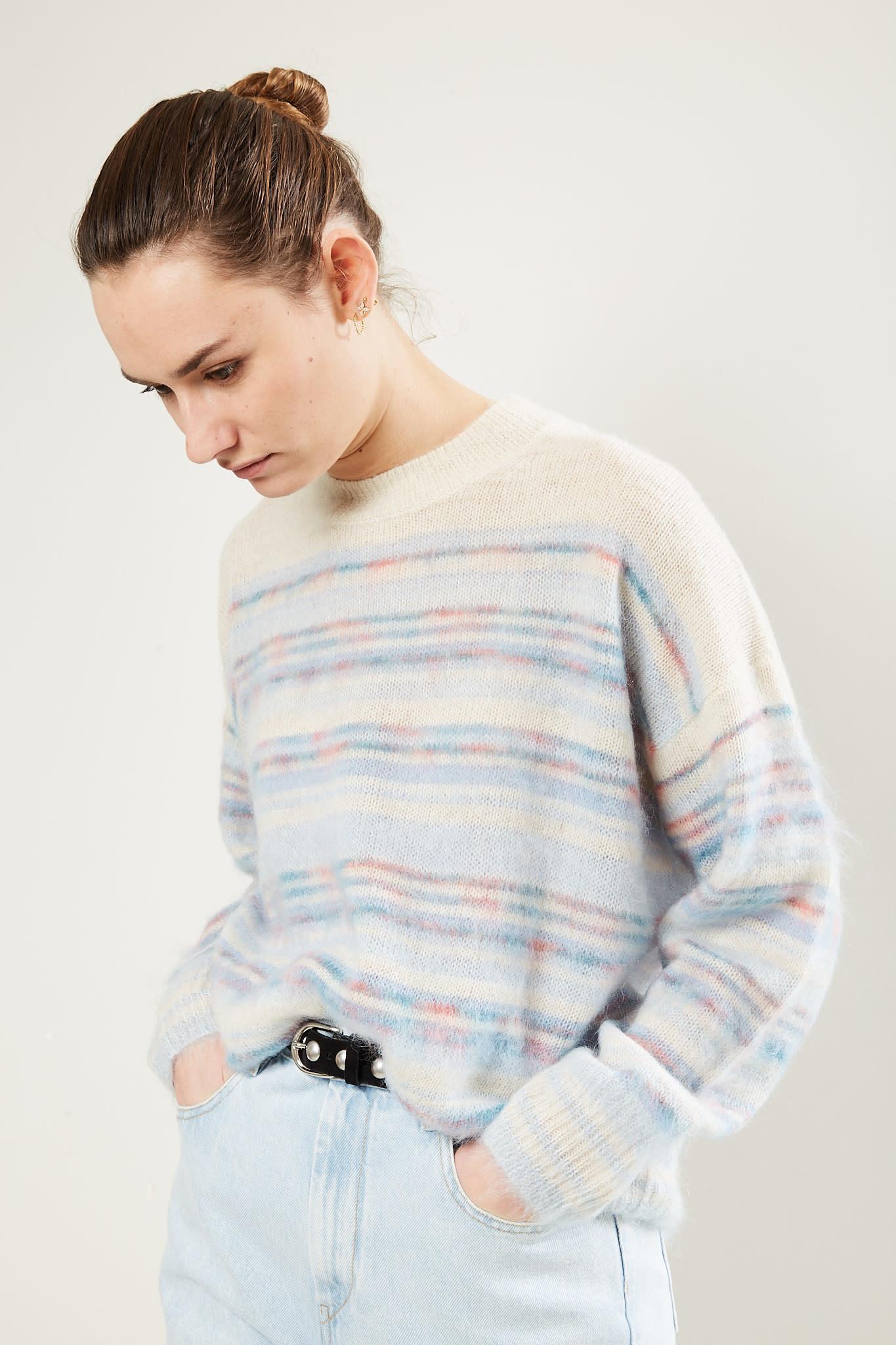 Etoile Isabel Marant Gatliny printed mohair sweater