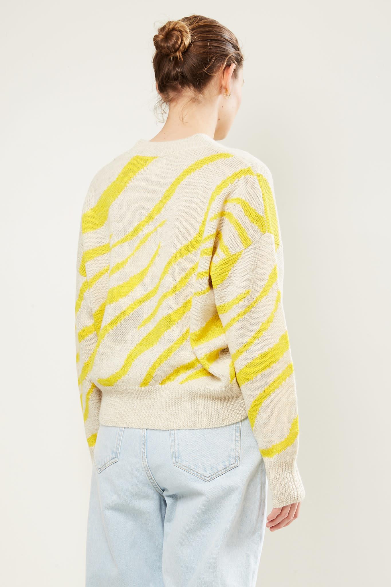 Etoile Isabel Marant - Genna zebra intarsia sweater