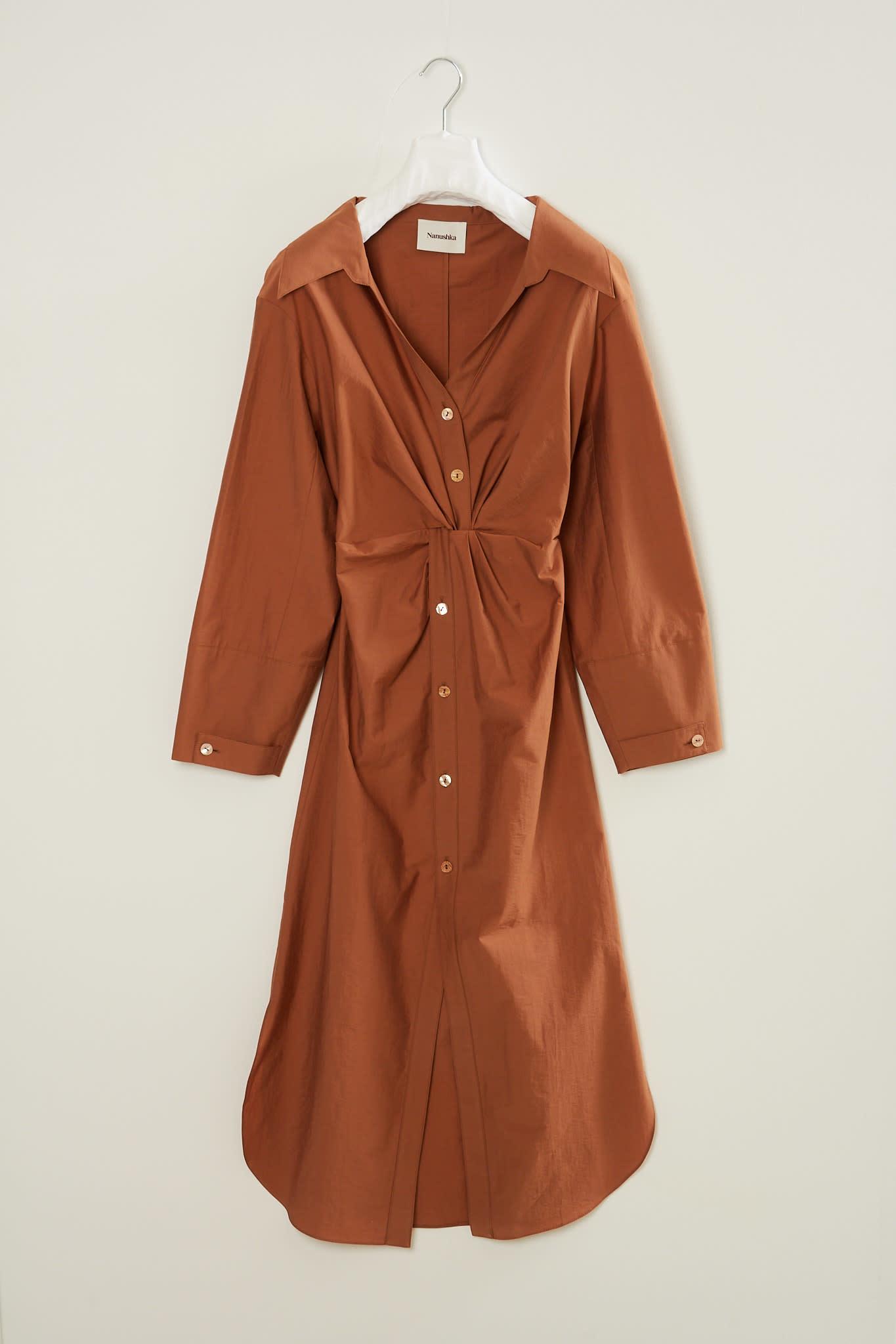 Nanushka - Ayse crisp poplin dress