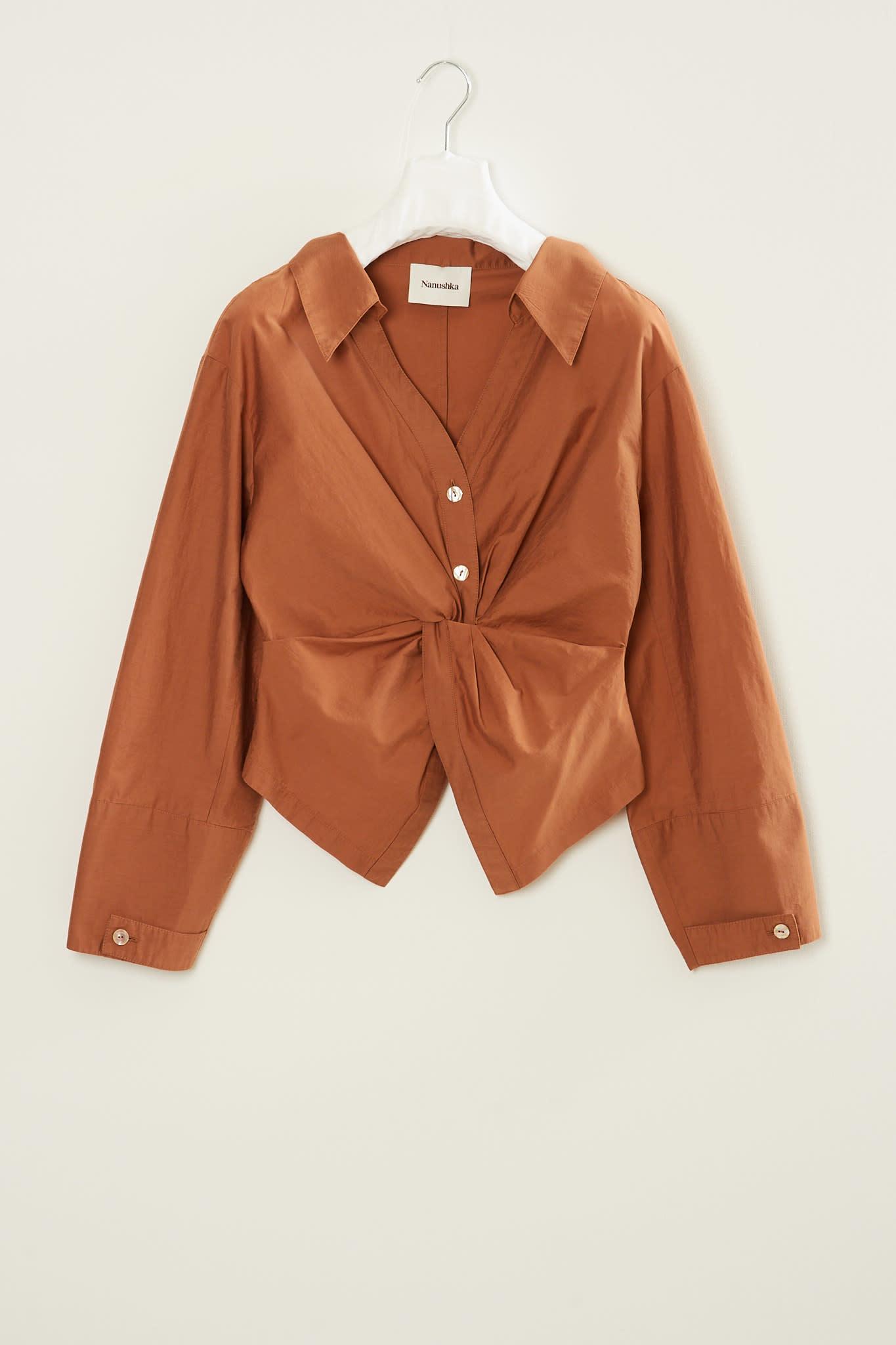 Nanushka - Idris crisp poplin blouse