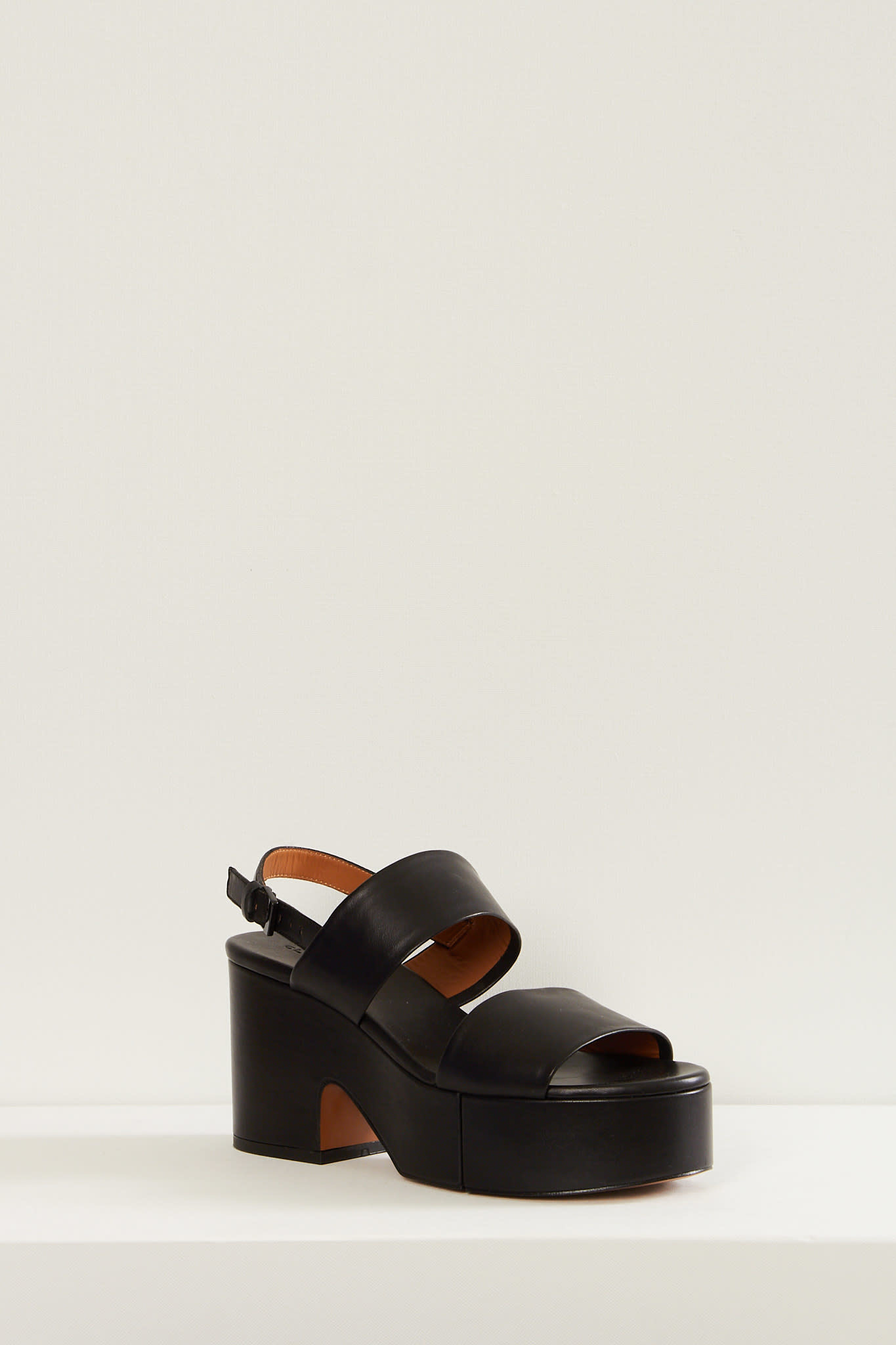Clergerie - Cora leather plateau sandals