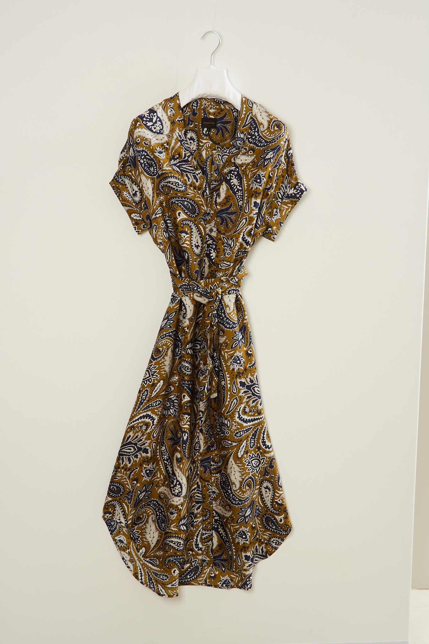 bananatime - V dress jumbo paisley shirt