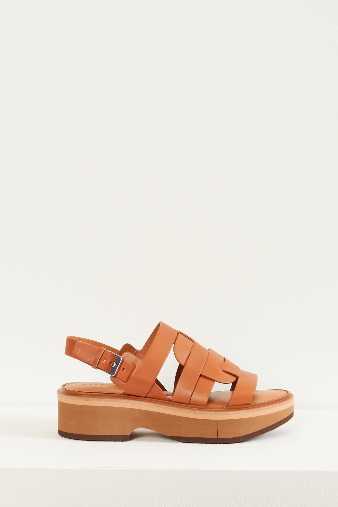 Clergerie - Fidji leather sandals
