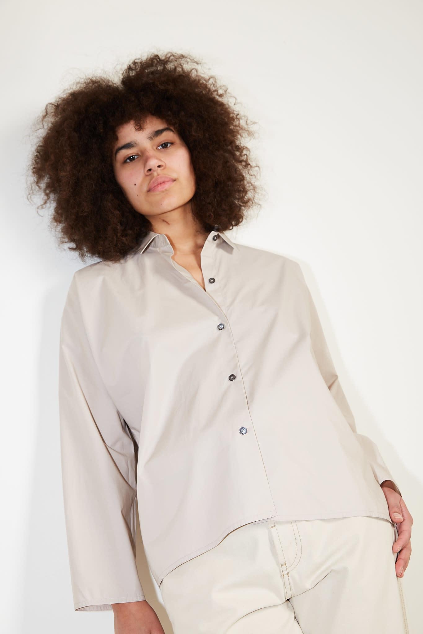 Sofie d'Hoore Bird cotton poplin shirt