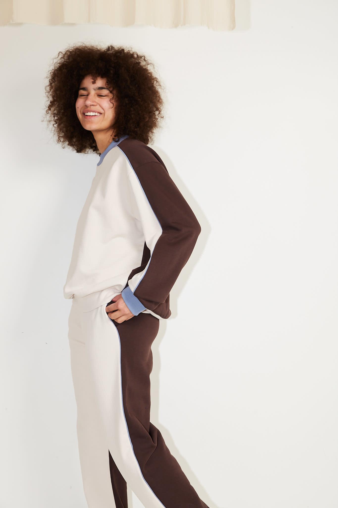 Sofie d'Hoore - Tap cotton fleece combi sweater