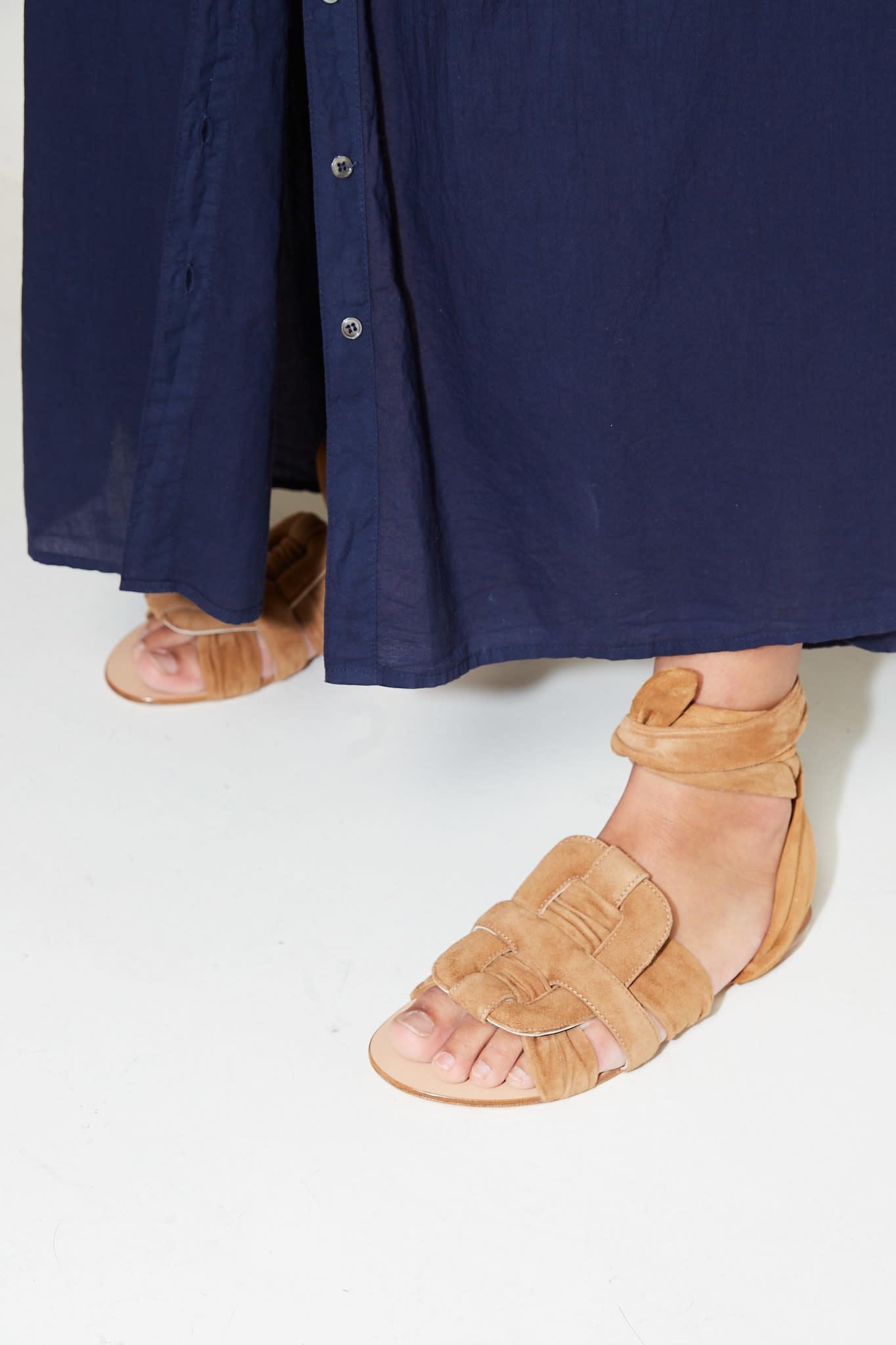 Morobé - Piper suede flat sandals