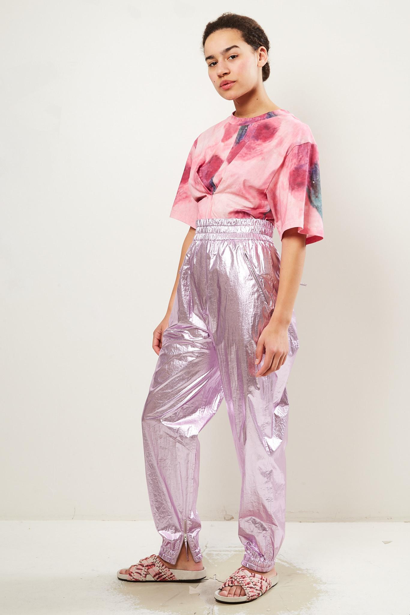 Isabel Marant - Galoni metallic cotton trousers