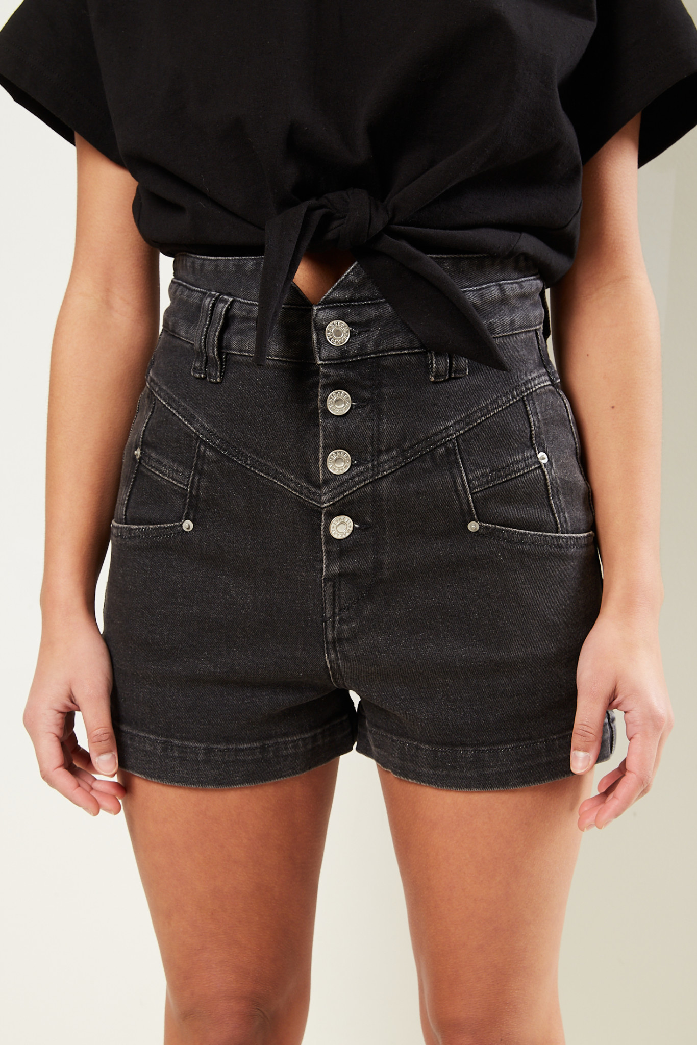 Isabel Marant Diroysr stretch denim shorts