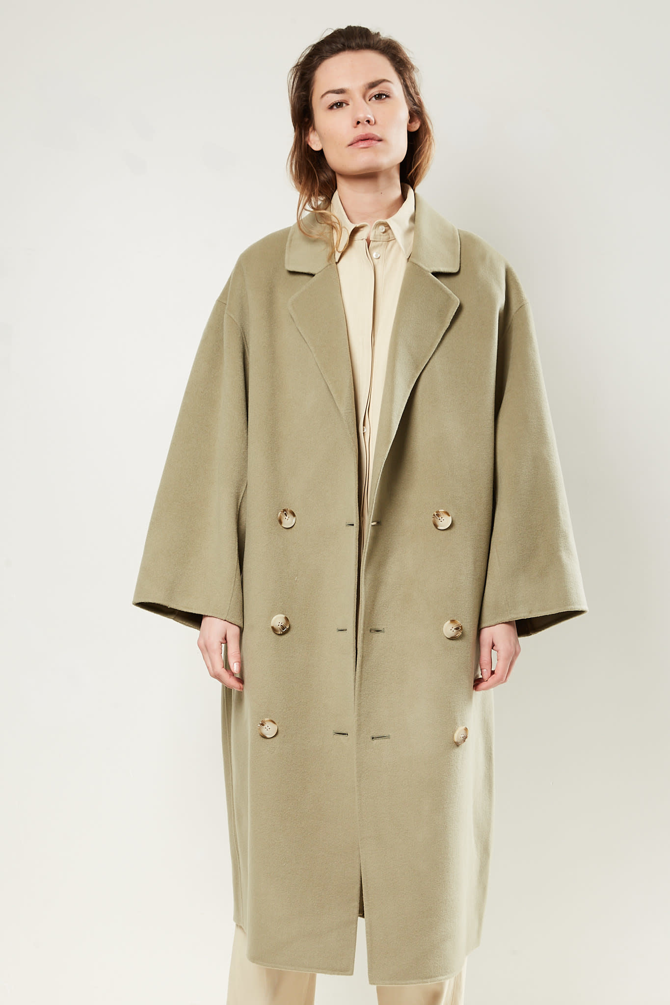 loulou studio - Borneo wool cashmere coat