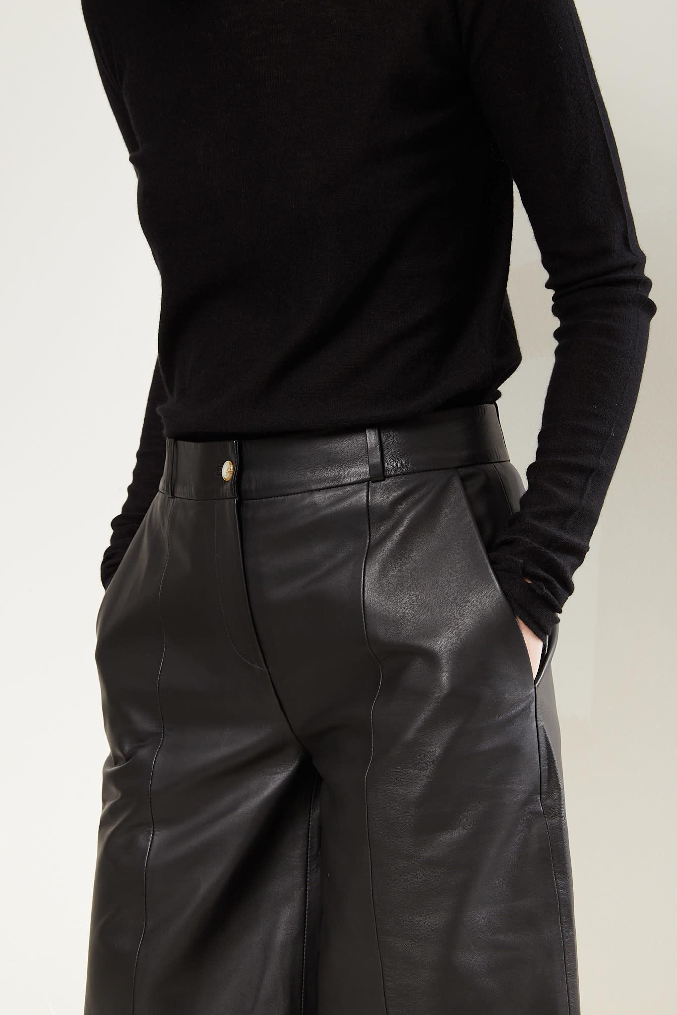 loulou studio - Kiltan leather bermuda