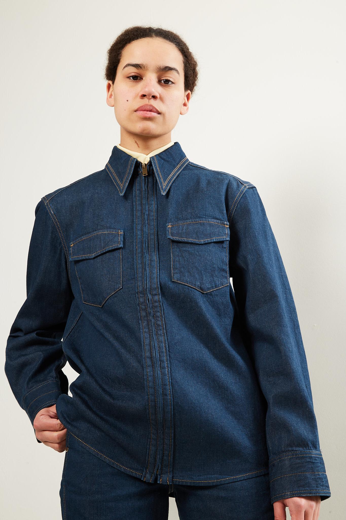 Lemaire Denim zipped shirt