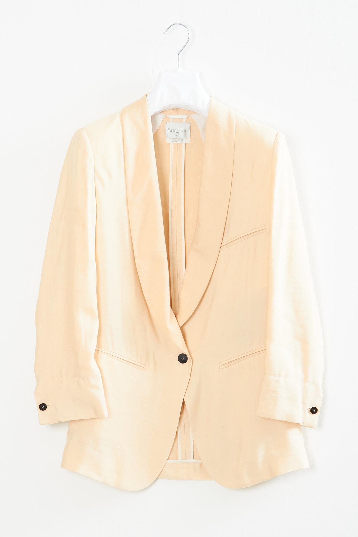 Forte Forte - Iridescent linen cupro smoking jacket