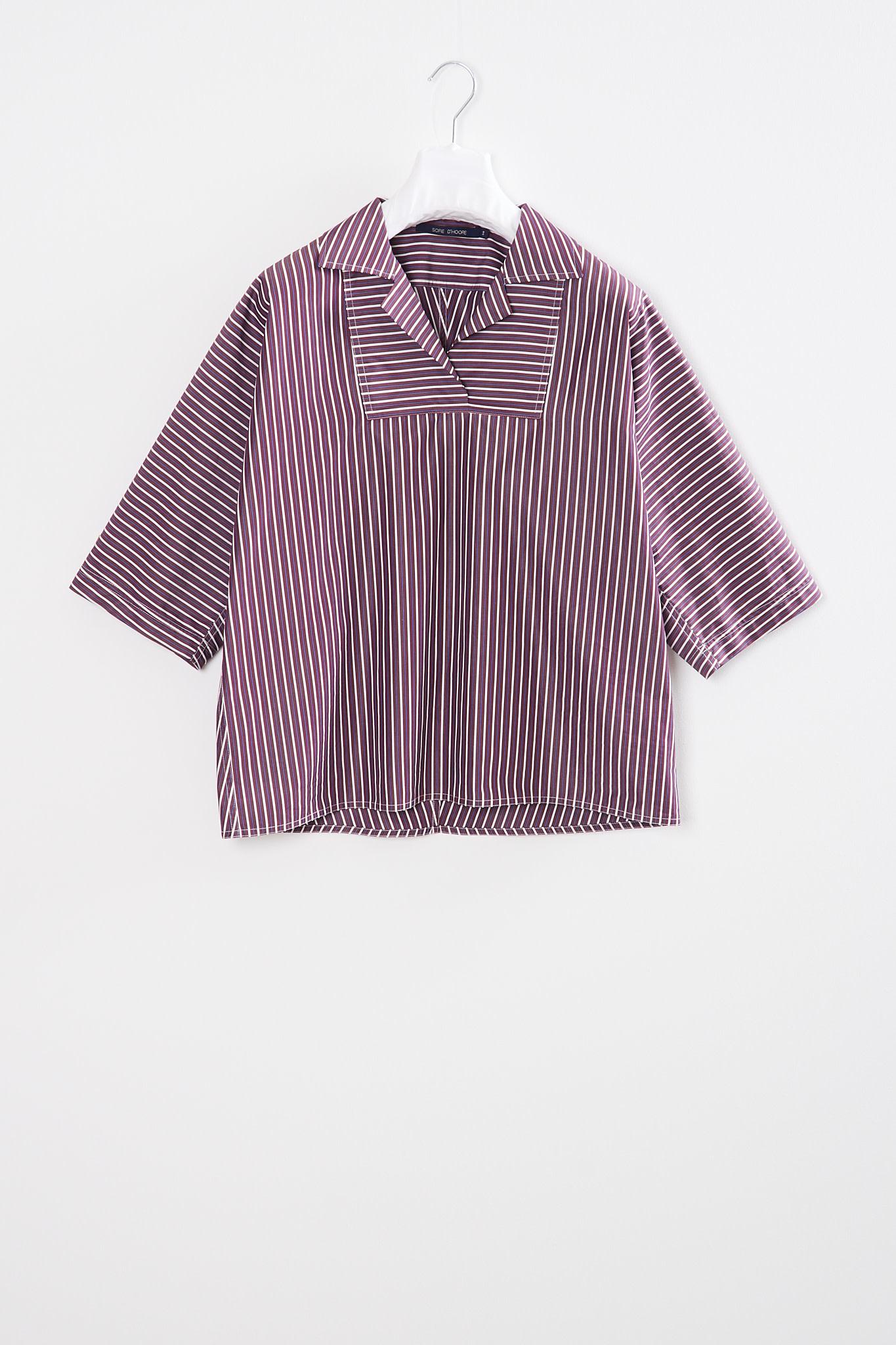 Sofie d'Hoore - Book striped cotton shirt