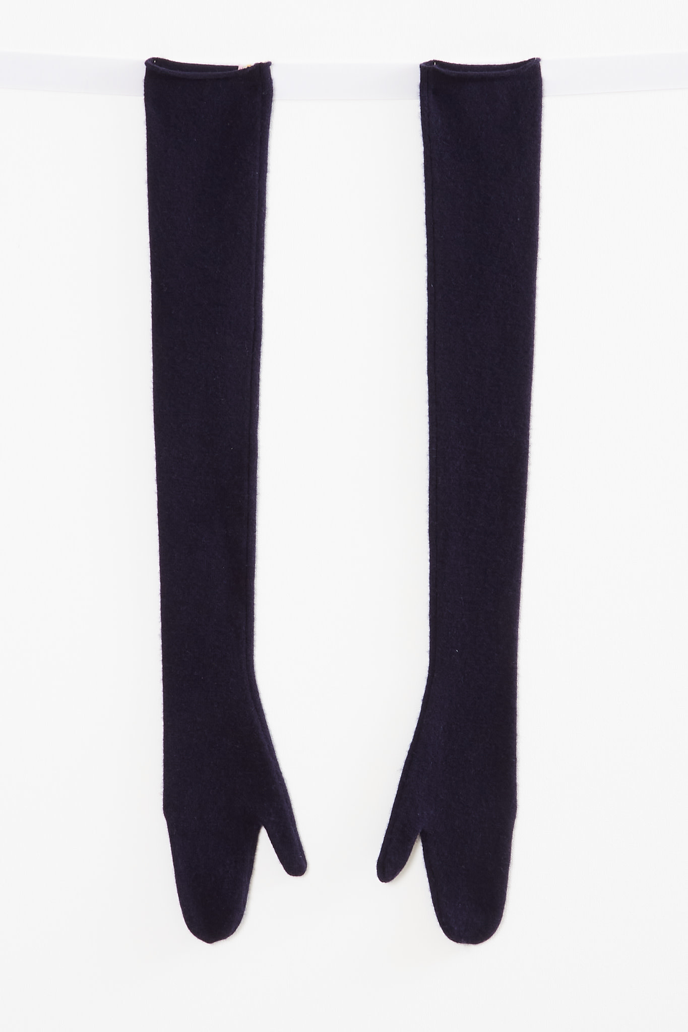 extreme cashmere - No110 gala extra long mitten gloves navy