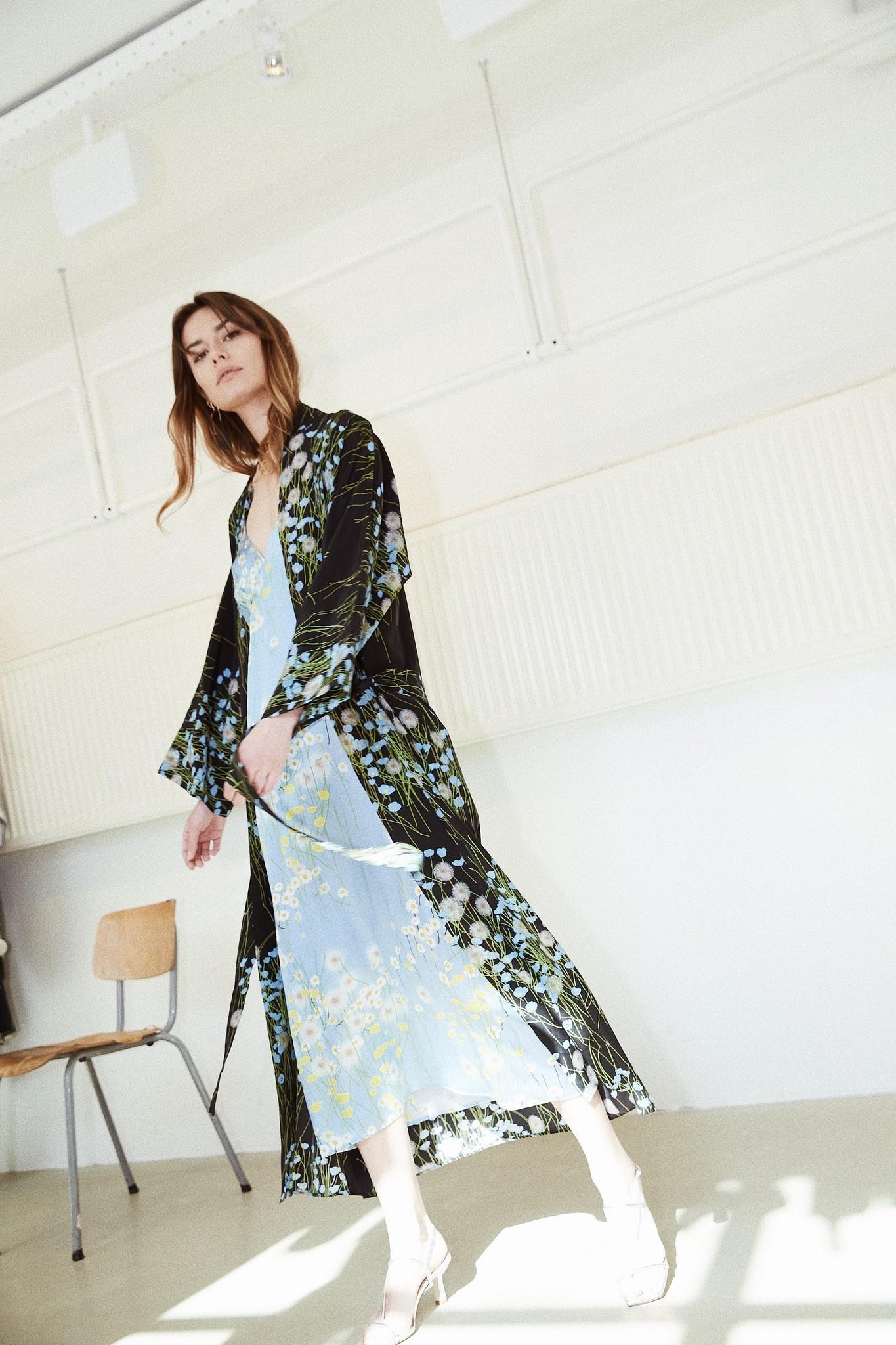 Bernadette - Peignoir silk crepe de chine
