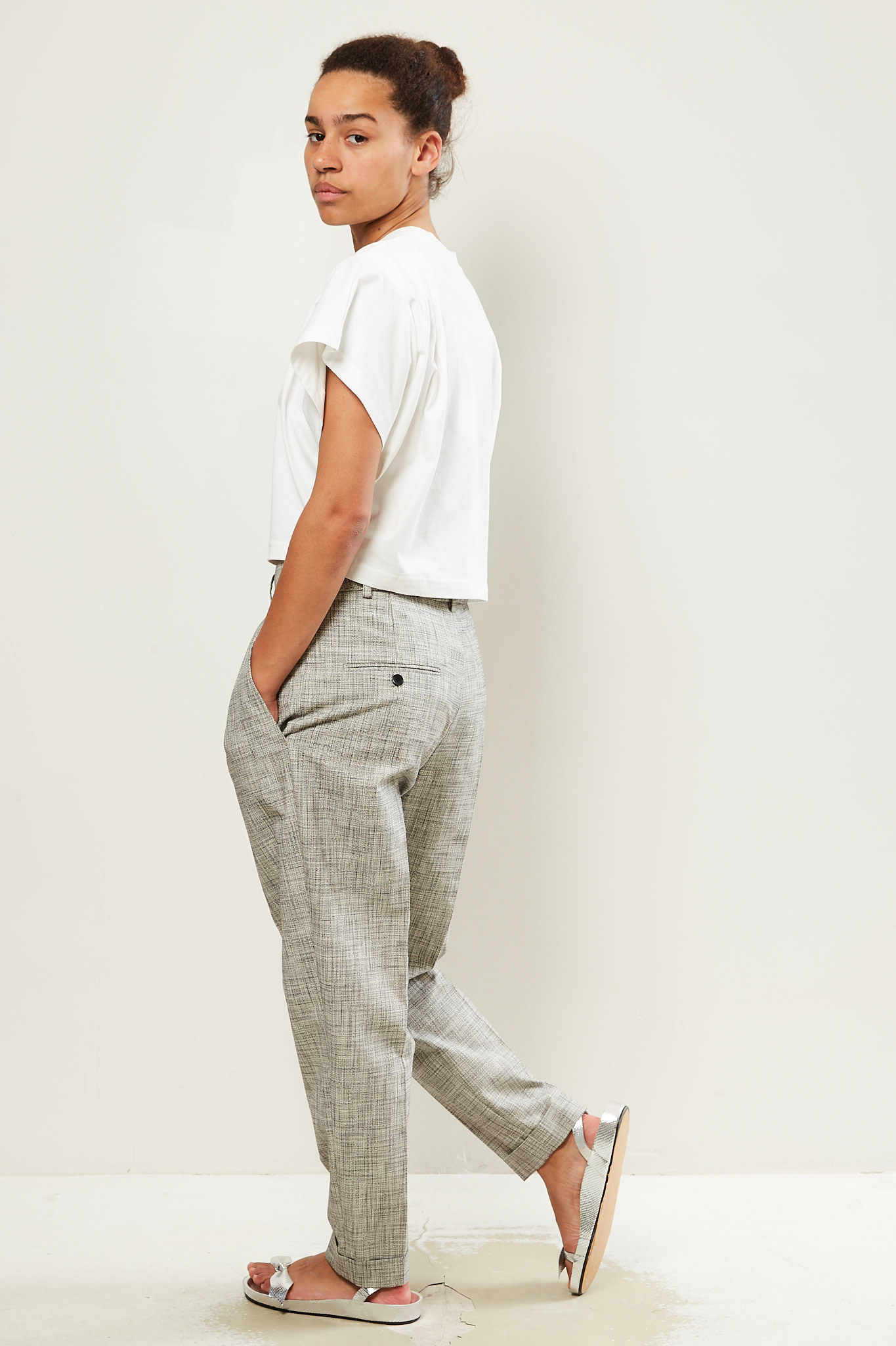 Isabel Marant Oceyo checked costard trousers