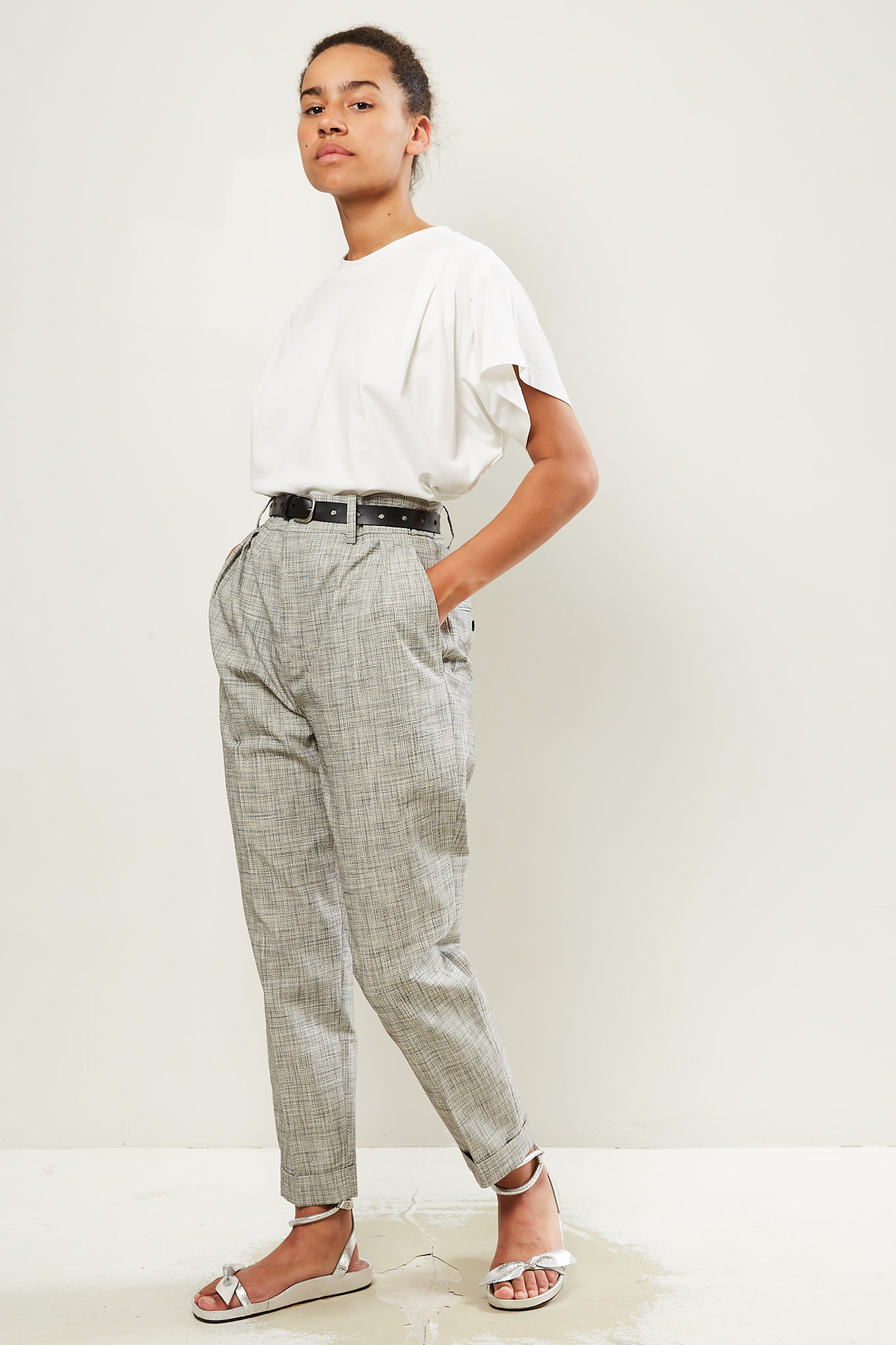 Isabel Marant - Oceyo checked costard trousers