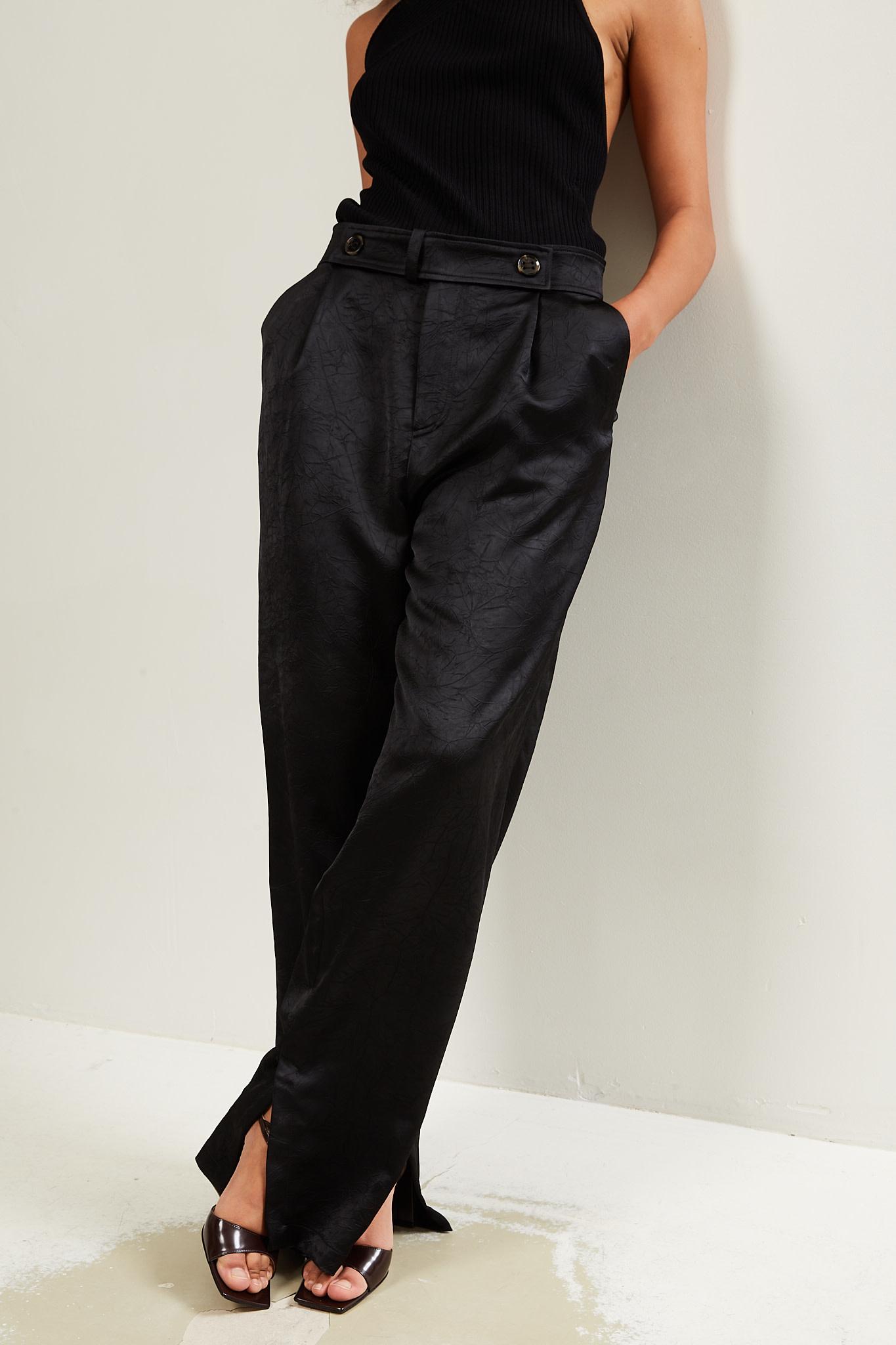 Aeron Odile crinkled satin trousers