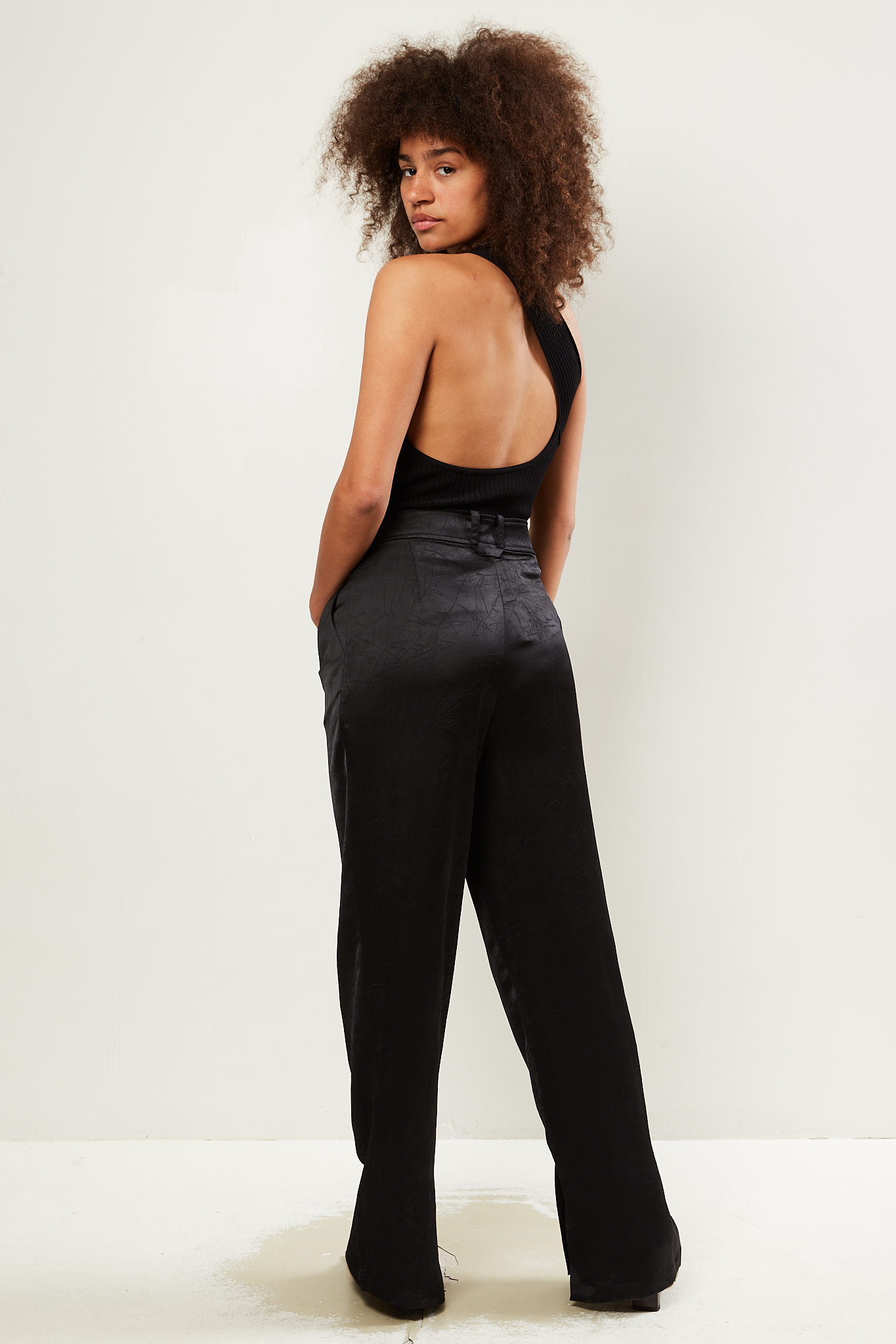 Aeron - Odile crinkled satin trousers