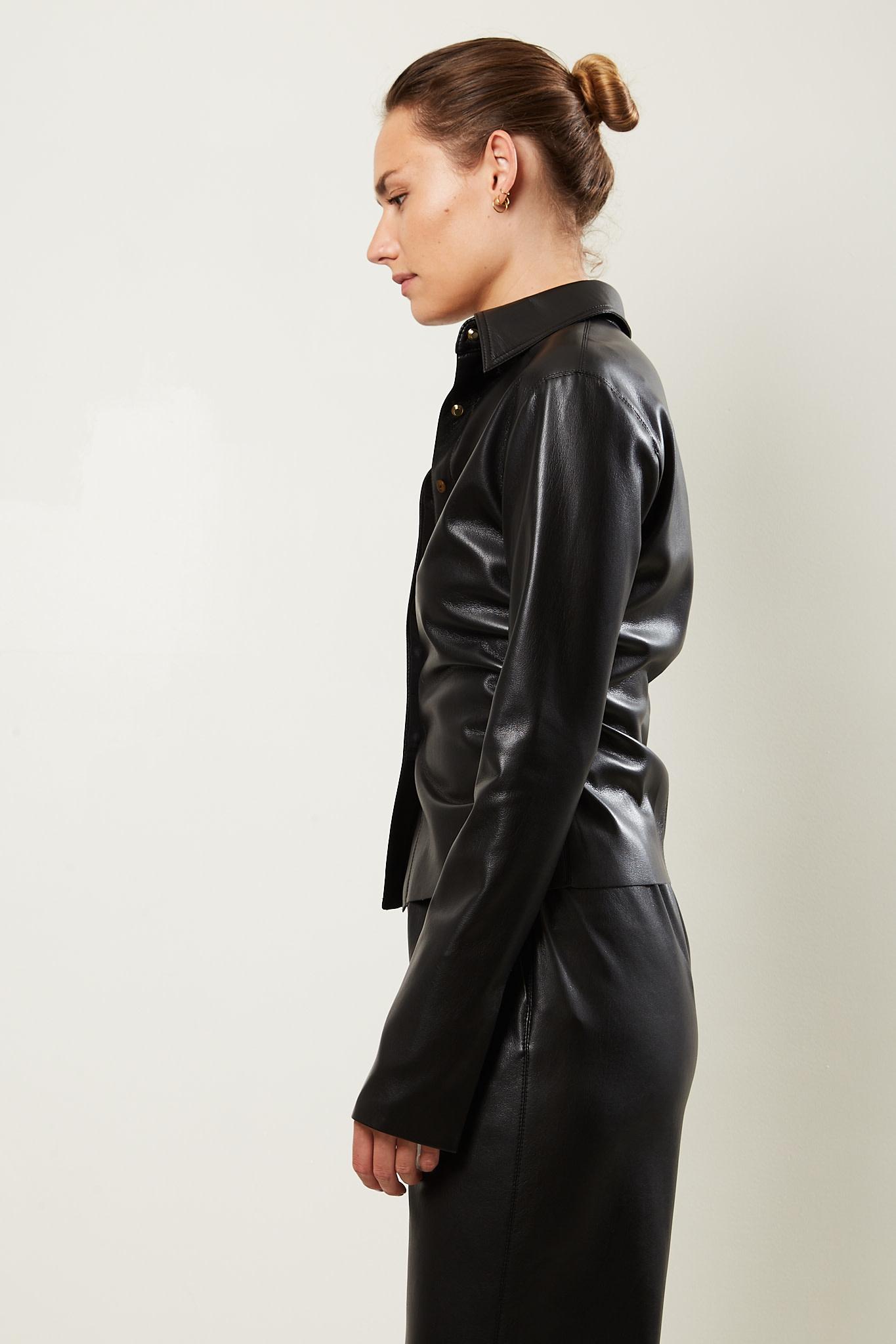 Nanushka - Shado vegan leather shirt