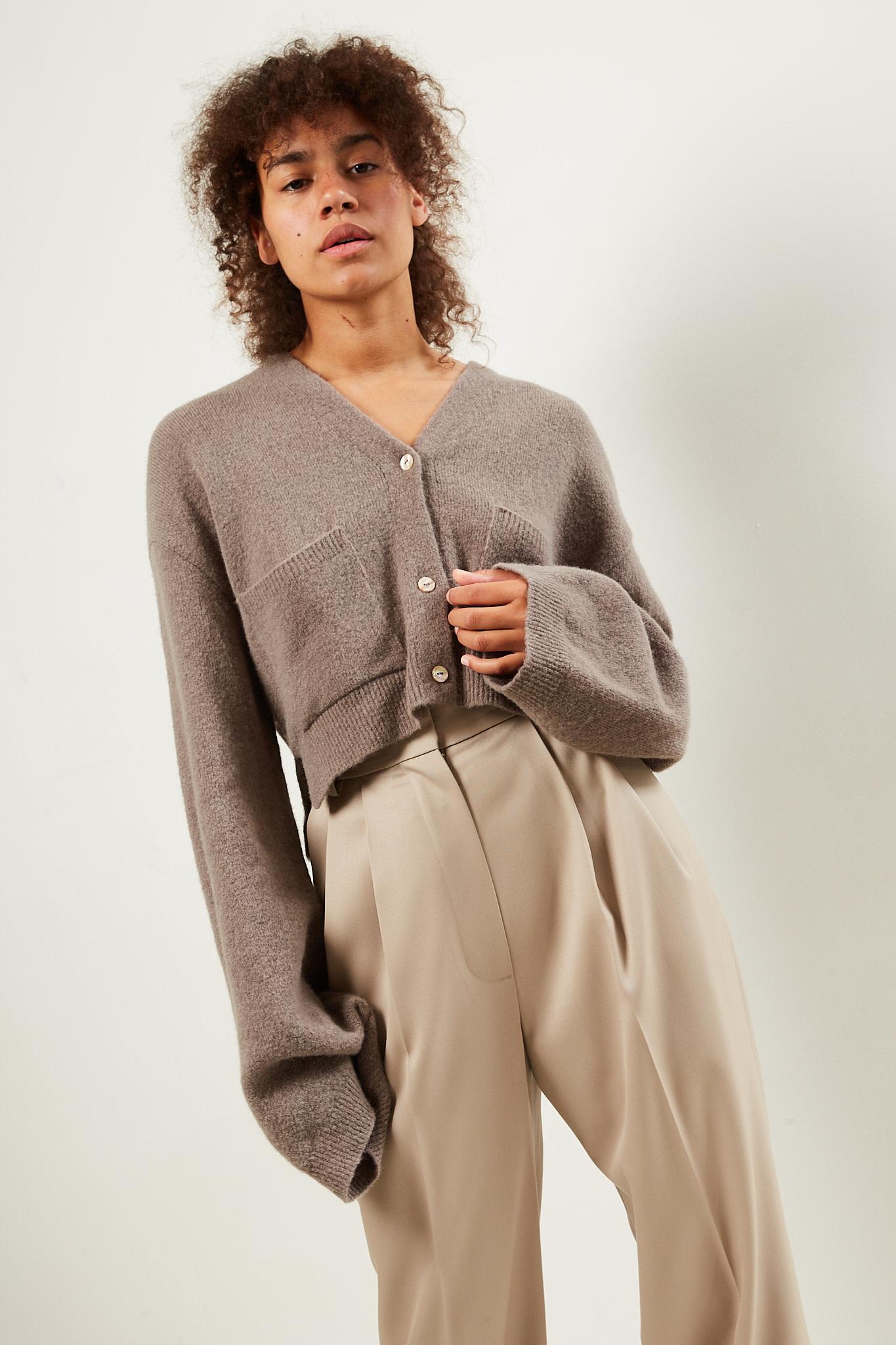 Nanushka Effie boucle knit cardigan