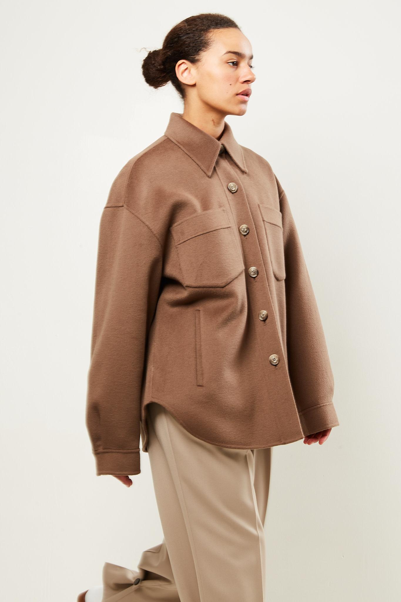 Nanushka Perth double wool shirt coat