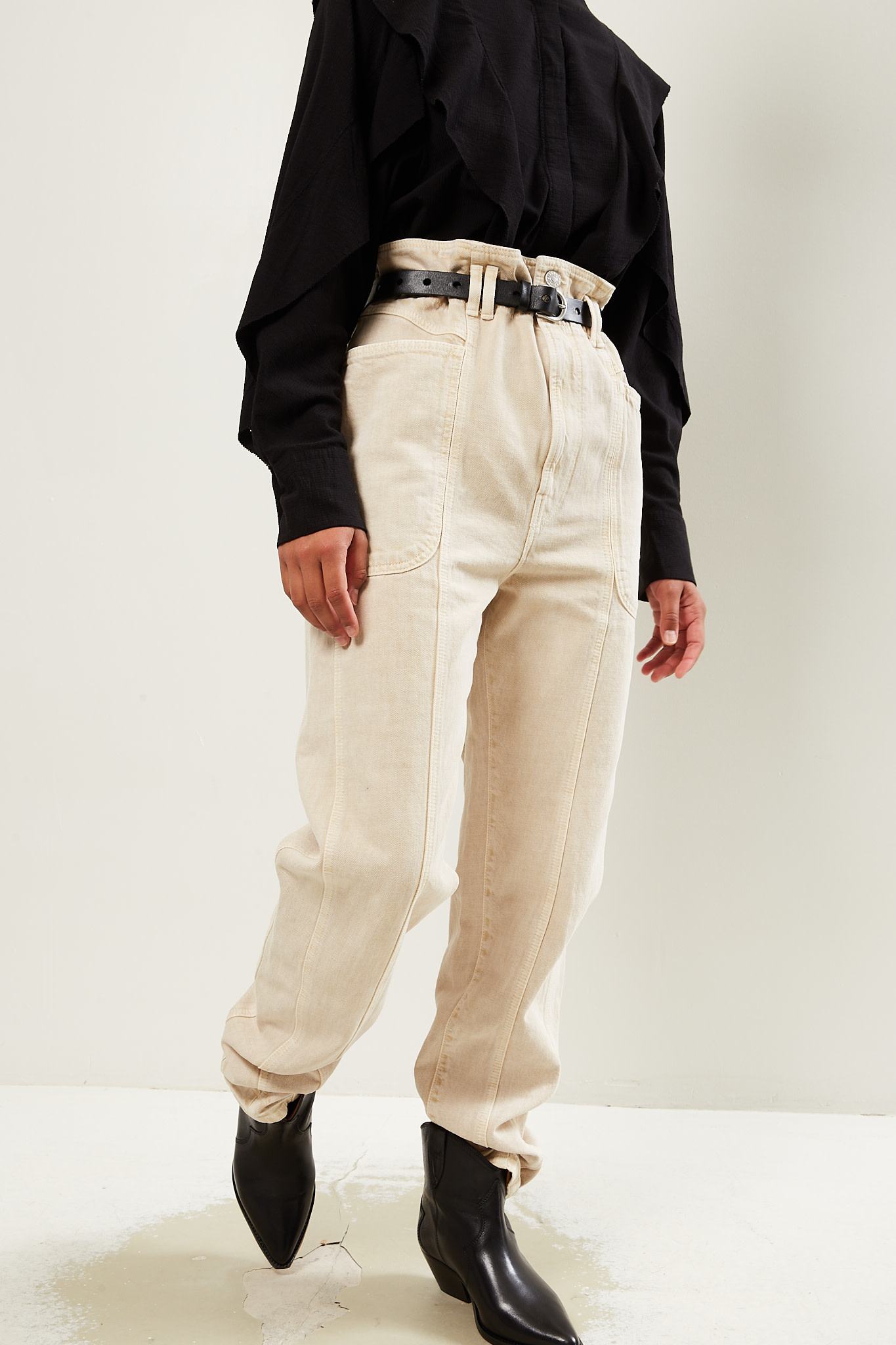 Etoile Isabel Marant - Tess colored jeans trousers